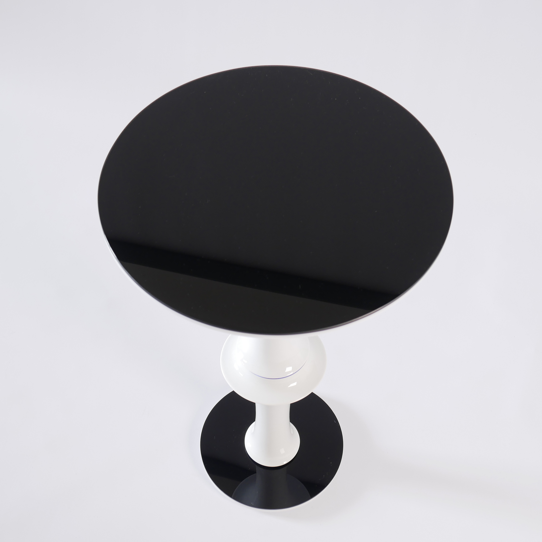 "Aeroplane Side Table - <p>Timeless ""one of a kind"" side table made of vintage vases and new plexiglass and glass components. Stable construction made of metal and flexible components inside. Additional weight in the base.</p>