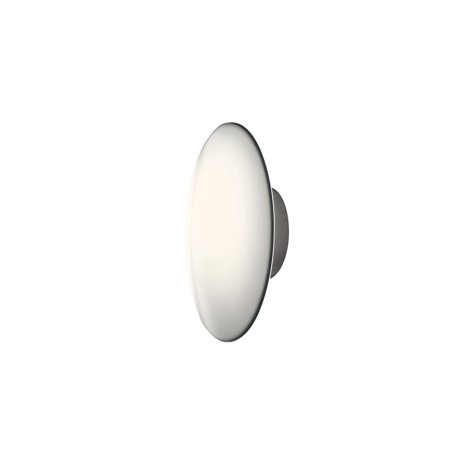 AJ Eklipta Wall Light - The fixture emits soft comfortable light. The glass is designed to provide a uniformly lit surface. The three-layer mouth-blown opal glass shade has a transparent edge, providing a decorative halo of light around the fixture. | Matter of Stuff