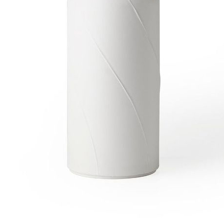 Vase With Lid B - Vase with lid B. Cast in white clay. Matt white glaze. Year of production 2015   Matter of Stuff