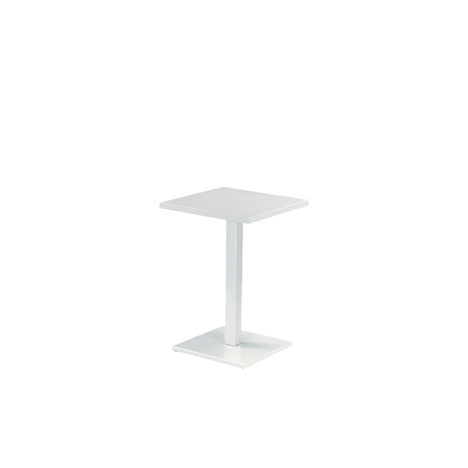 Round Square Counter Table - This table is a counter table and is made from steel. It comes in four colours so that you can choose the best finish to suit you. Round is a collection defined by its search for structural balance and soft lines, an interpretation of outdoor space that conveys stylistic but essential refinement. Clean and basic shapes mark the range elements that make up this collection.</p>  | Matter of Stuff