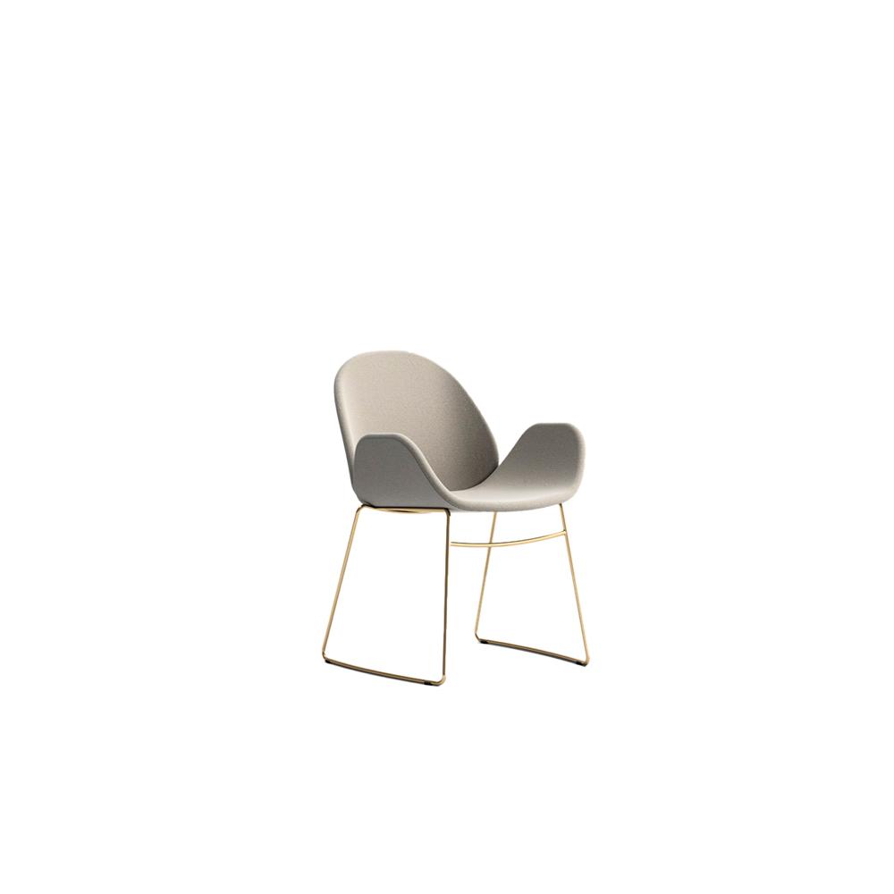 Rose Steel Armchair