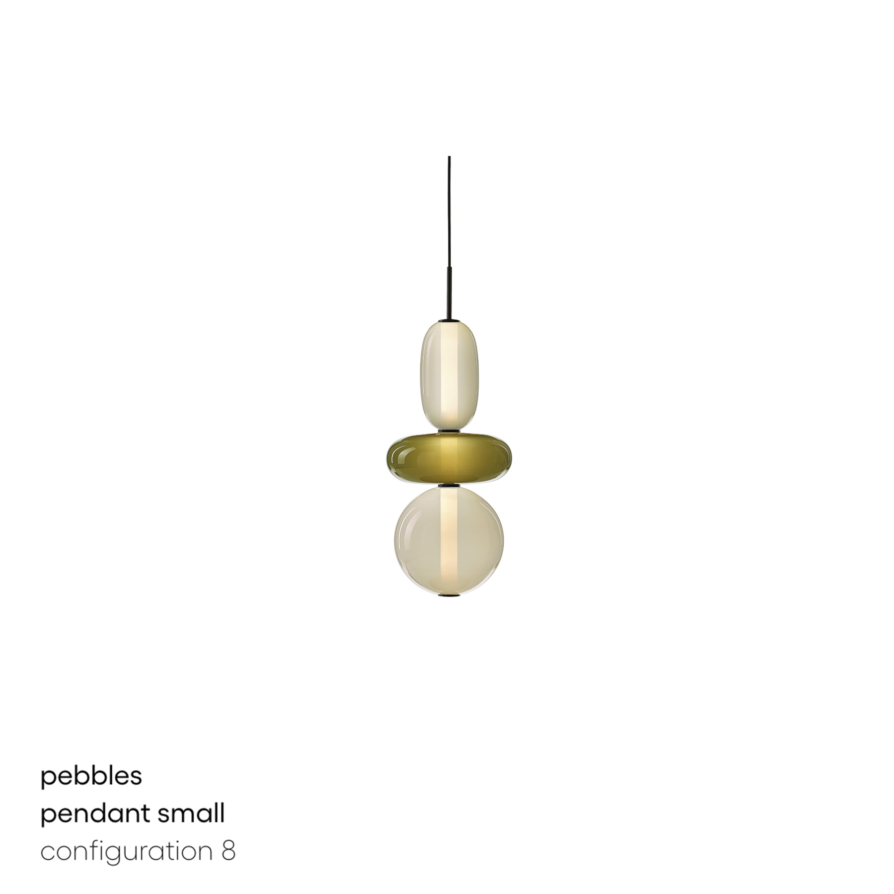 Pebbles Short Pendant Lamp - <p>Keepsakes of treasured memories.<br />