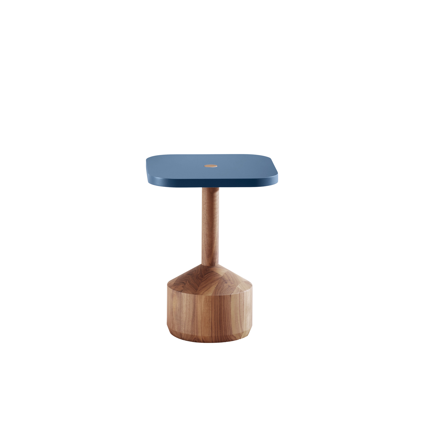 Pezzo Coffee Table - Pezzo is an exercise in geometry on the balance of solids. In this case, made in solid oak or walnut. Pezzo is both a stool and a small table.
