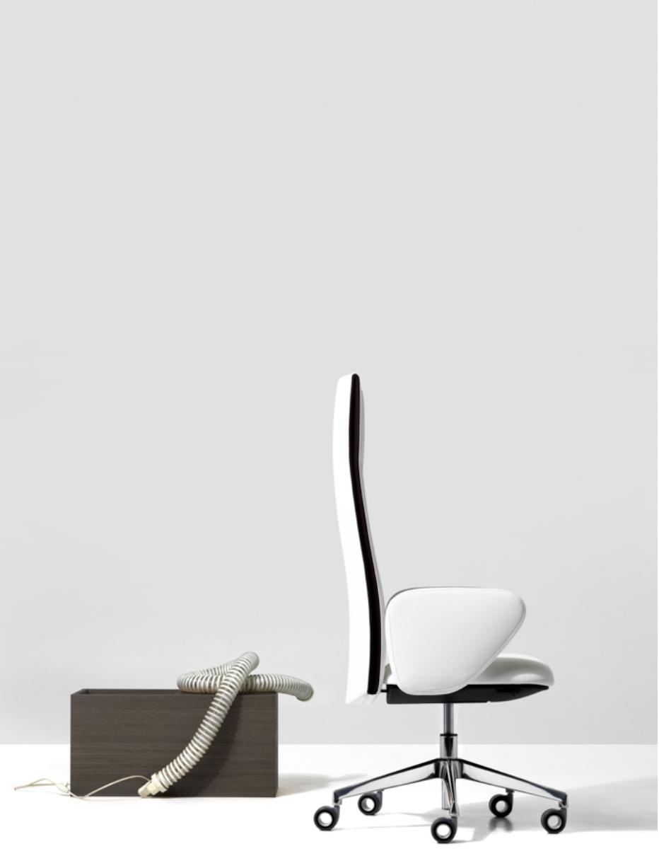 Velvet High Backrest Executive Chair