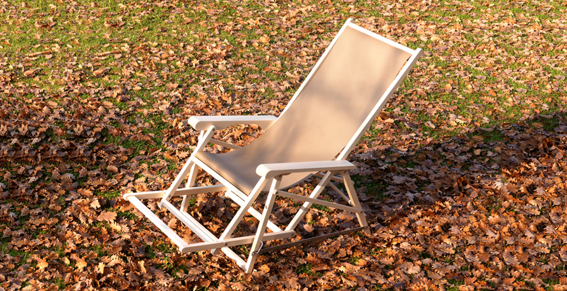 Numerouno Armchair - <p>Extendable folding chair made out of wax finished ash or iroko wood. Screws, joints and stays in stainless steel, mat. It can come in natural fabric or leather for indoor use or with a special outdoor use fabric.</p>  | Matter of Stuff