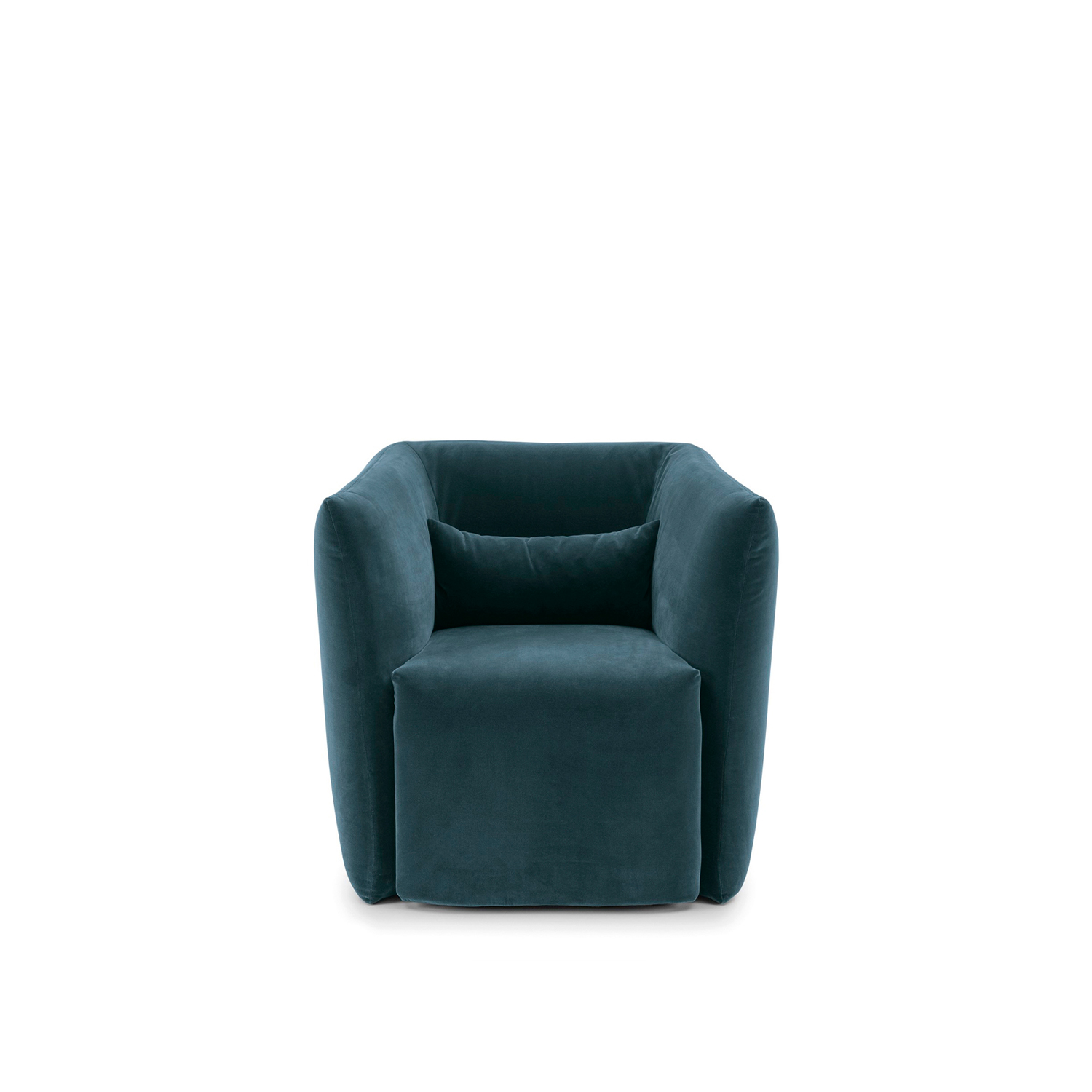 Jill Armchair - Jill armchair has soft and enveloping volumes, it stands out for its compact and comfortable shape: a transversal design with different tastes and atmospheres.‎ Not removable cover