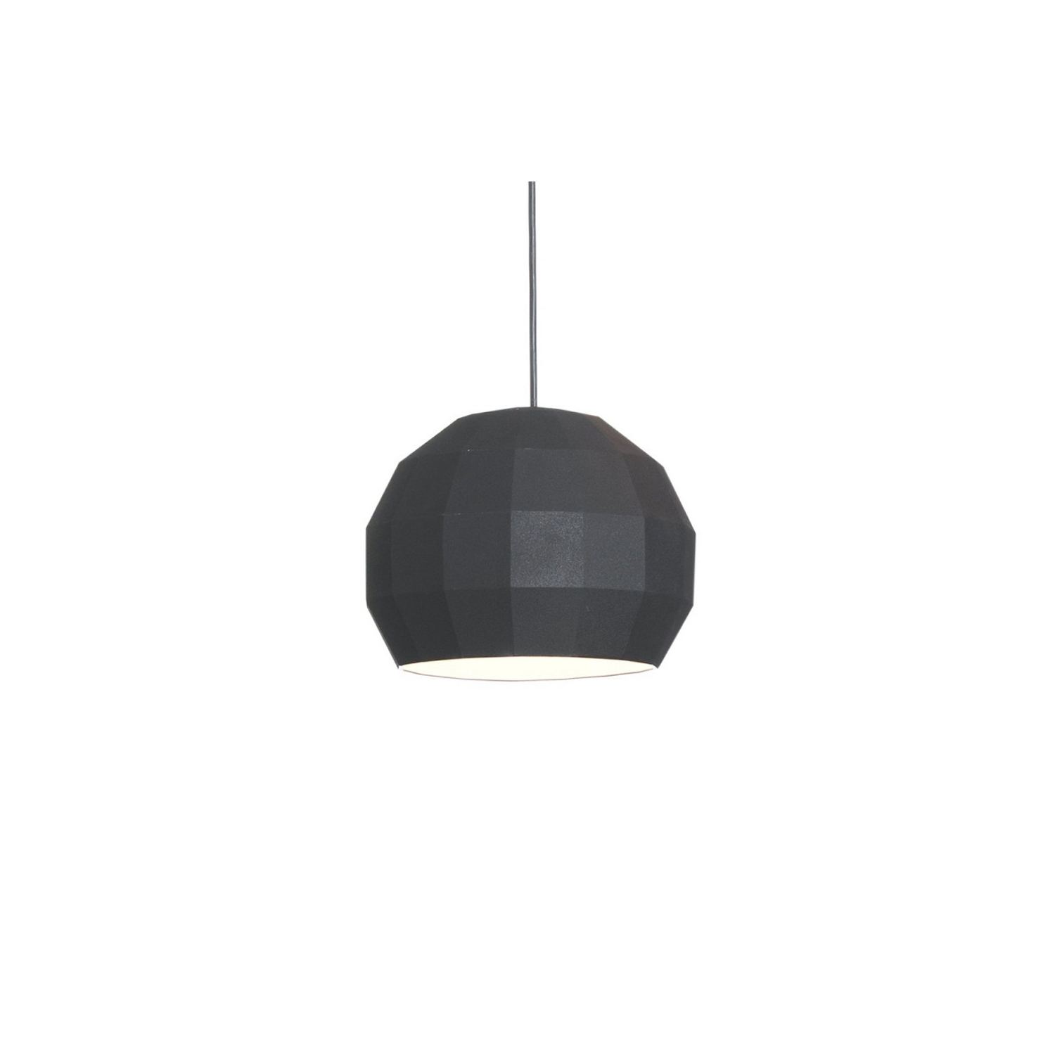Scotch Club 41 Pendant Light - <p>Pottery Scotch Club collection is a tribute to the disco mirror ball, consisting of 72 facets that reflect light from the inside in various directions, producing a complex visual effect. Scotch Club is the result of the last collaboration between Xavier Mañosa and Mashallah.</p> <p>Pendant light available in 3 sizes: 17.4cm diameter, 26.5cm diameter and 41.2cm diameter. Available in the following finishes: white-white, white-gold, blue-white, blue-gold, terracotta-white, terracotta-gold, black-white and black-gold.</p>The cord length is 200cm.  | Matter of Stuff