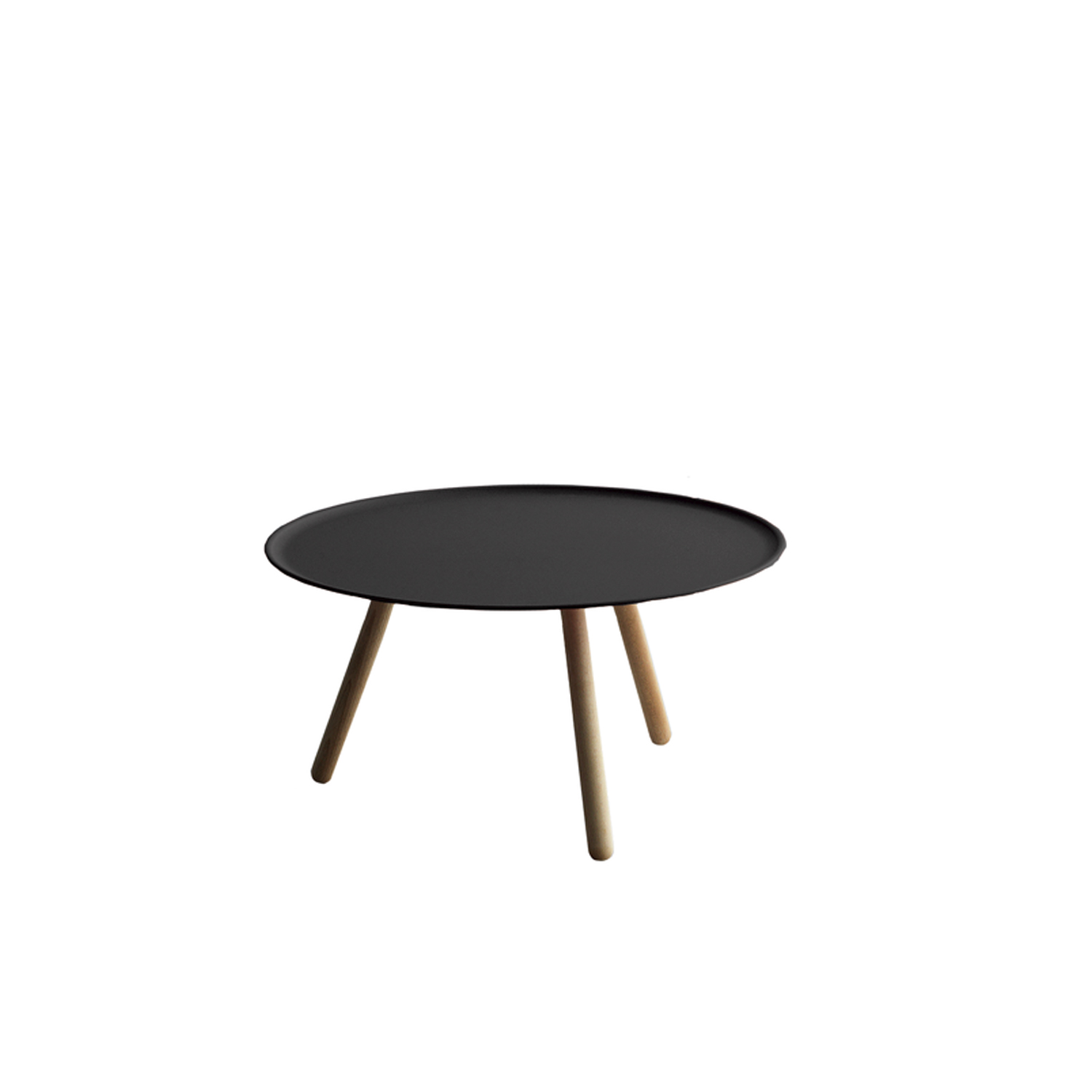 Pinocchio Coffee Table - Supported by three turned wood legs, Pinocchio with a coloured top sports an eccentric air while it takes on a more discreet tone with the stoneware top.