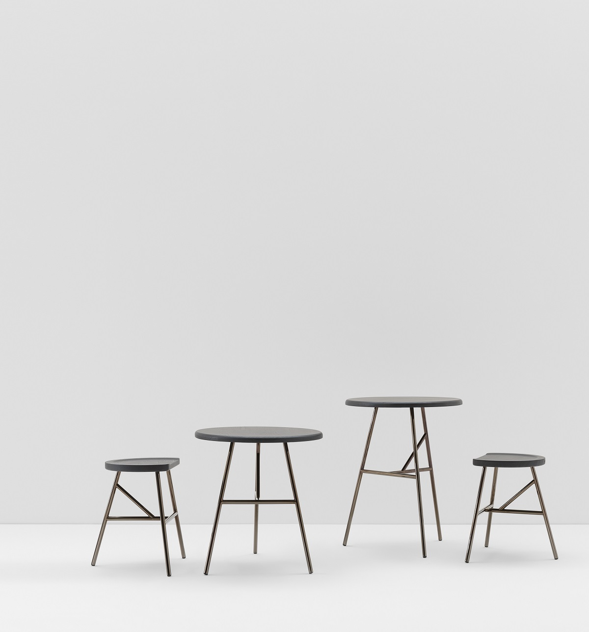 Puccio Low Stool - <p>Those routines from a recent past, rural and by now evaporated away, suddenly once again hold sway over the spaces of new times, in new ways of being together. This is how Puccio springs to life, from the disillusioned milking stool that reinvents its new modern self. Its form remains slim and usable just as it used to be, but Puccio gleefully transforms itself and makes itself useful in various functions: as seating, as tables, as a bench and as stools of varying heights, defining and transforming itself with post-modern ability. From the milking stool remains the warmth of wood, as does the elasticity of ashwood to which can be added, through the steel version, the technological sturdiness of the metal. The softness of the line remains, its fun, and the colour which never suffices. A thing of beauty retains its beauty for ever.</p>  | Matter of Stuff