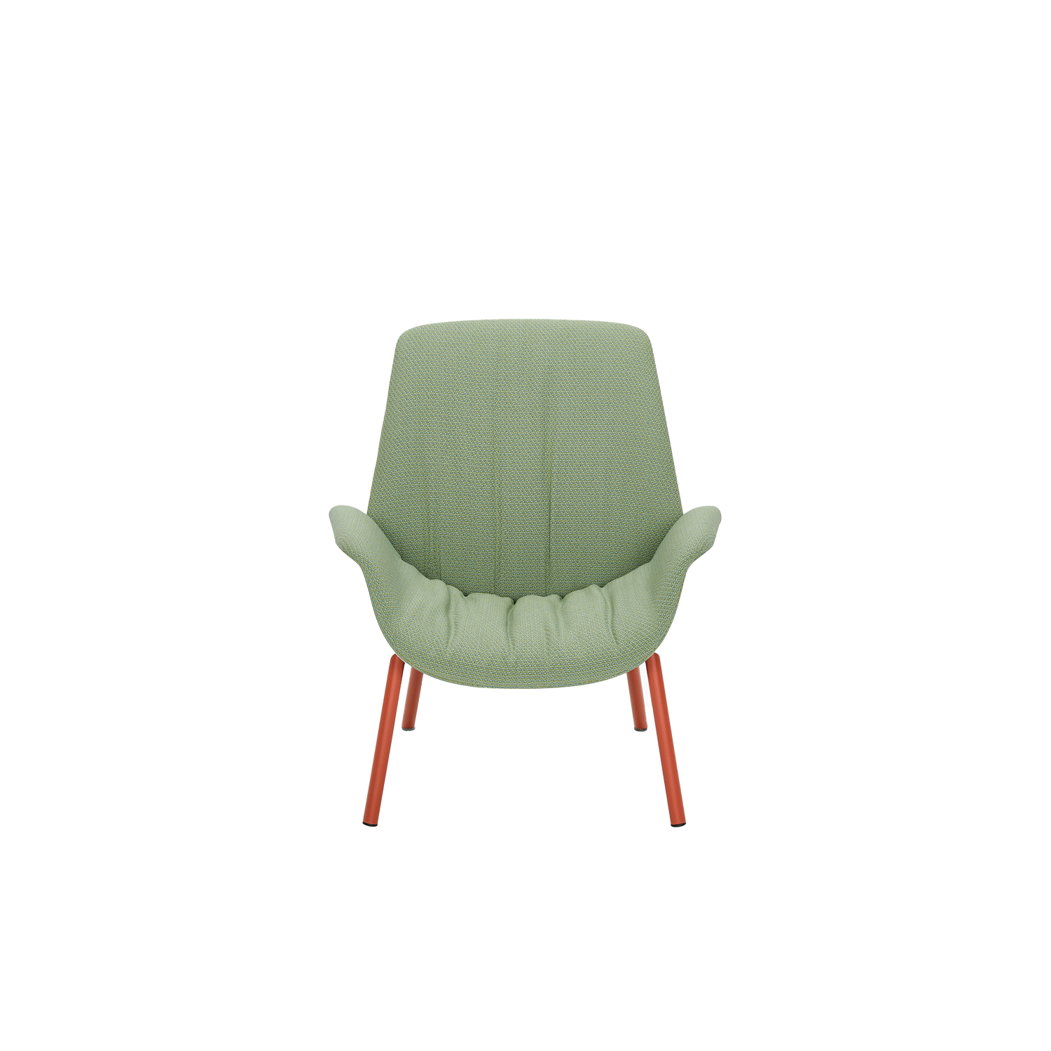 Ila Upholstered Lounge Chair - The new, elegant and high-quality Ila is a refined piece of furniture with a strong personality, expressing utmost comfort, softness and sensuality. Its curved, flexible lines trace out a comfortable and enveloping silhouette. Armchair with outer shell in rigid polyurethane foam and flexible polyurethane foam for the inner shell. Four-legs Ø 30 mm steel tube frame. | Matter of Stuff