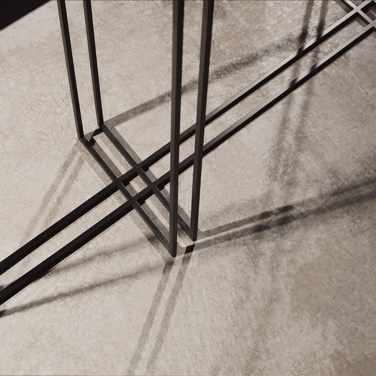 Cross Binate Console - This table fits into almost any room from lounges in the home to meeting rooms at the office. The Cross Binate Consoles slim design means that it can be placed along a wall and is not intrusive. It has a Blackened Steel Frame and a honed Cumbrian Slate Top, with a polished brass trim. This table is hand made and crafted to order in the North of England. Custom sizes and finishes are available.</p>    Matter of Stuff