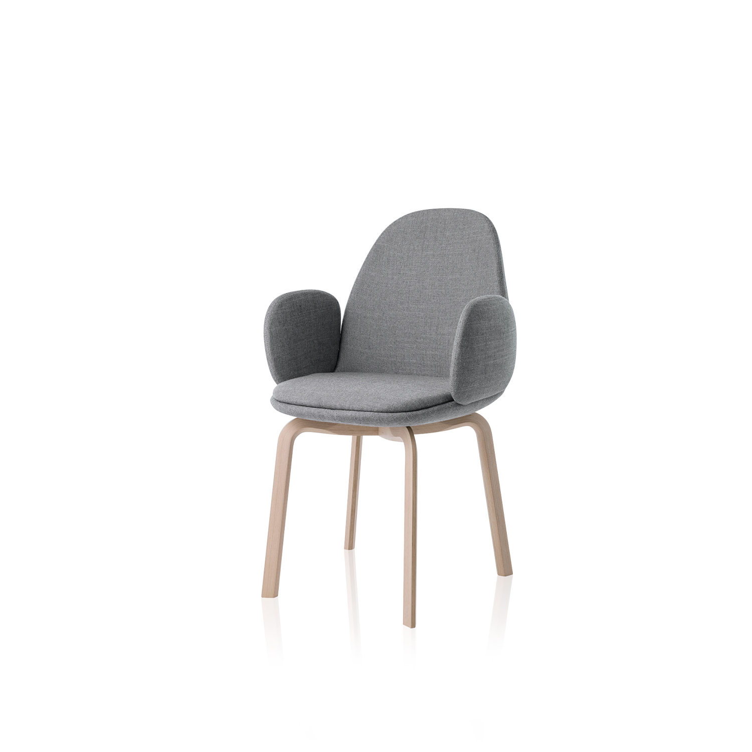 Sammen Armchair - The Sammen chair is available in two varieties: With or without armrests. The shell and seat cushion come fully upholstered in 6 different designer colours. 