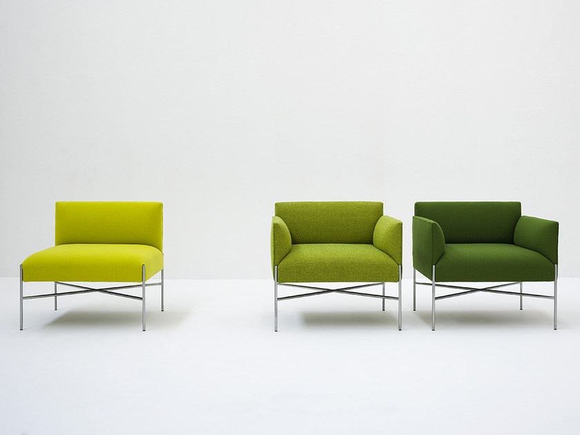 Chill-Out Easy Chair - Chill-Out is a system of sofas and armchairs that can stand alone or create a vast range of different linear or corner compositions. It features a light, slim base and cosy, comfortable cushioning, to which back and armrests can be added. An ideal combination both for domestic and collective spaces, particularly in the version with a built-in coffee table. Chill-Out as all our models of our collection is obtained from the value of materials used, the high skills of our workmanship and the freshness of our realization that cross the time.   Matter of Stuff