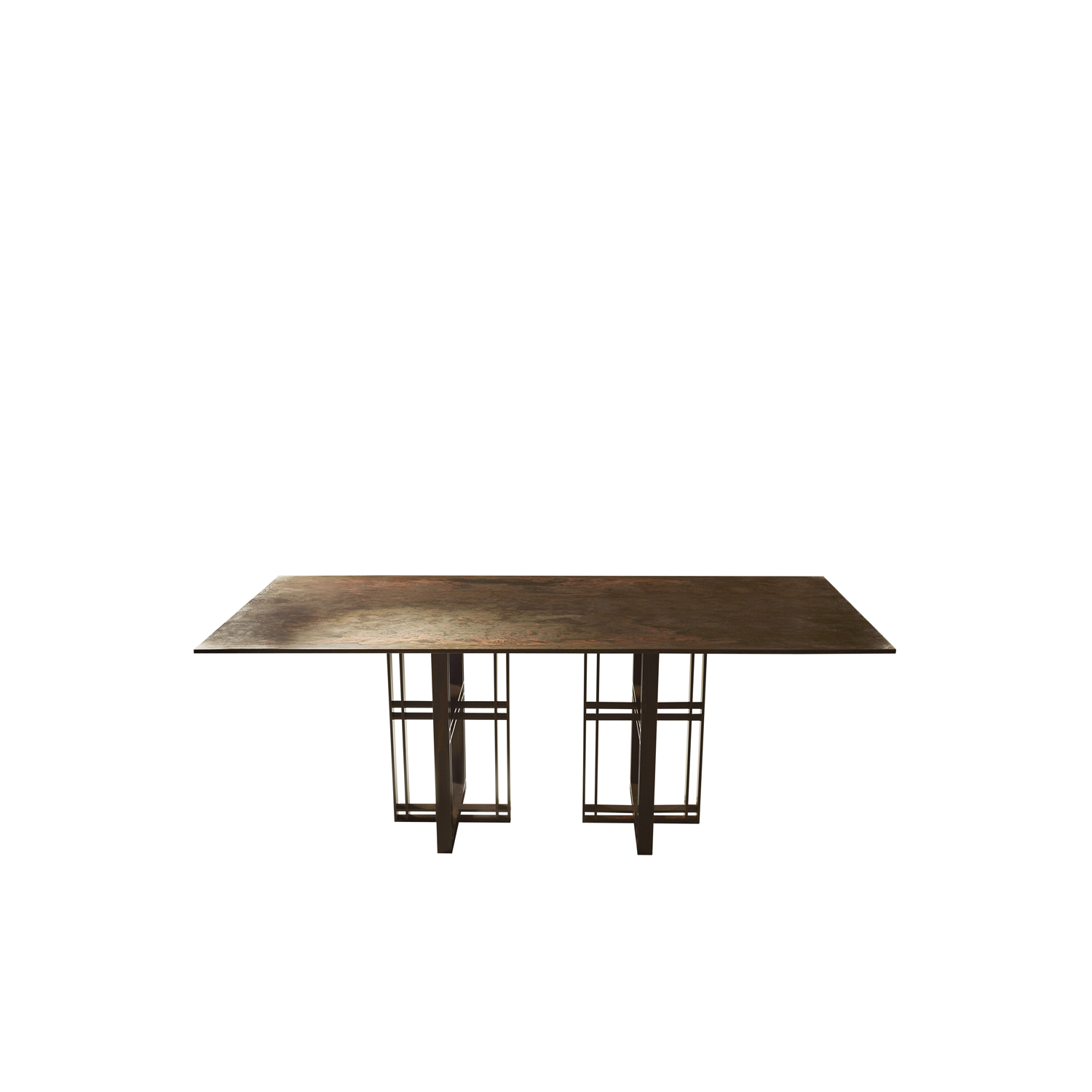 Athwart Dining Table - This statement piece is hand made in the North of England and crafted from steel and honed Cumbrian slate, with a polished brass trim (other materials available) . This table suits most dining rooms due to the different choices available, you can choose the best finish for your room. Please enquire for more informational and for custom sizes and finishes.  | Matter of Stuff