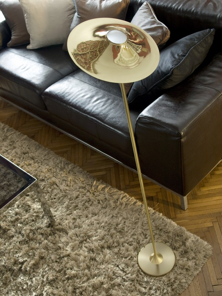 Skew Brass Floor Lamp - <p>A nostalgic design echoing sounds of the past, the Intueri Light Turbaya Table/Wall Lamp contemporizes the look of a gramophone. The Turbaya has a shape like a gramophone and it can remind others about the old days when this was the only thing that we could listen music on. Turbaya is a multi-function light. Wall light, table light, two functions in one product.</p>  | Matter of Stuff