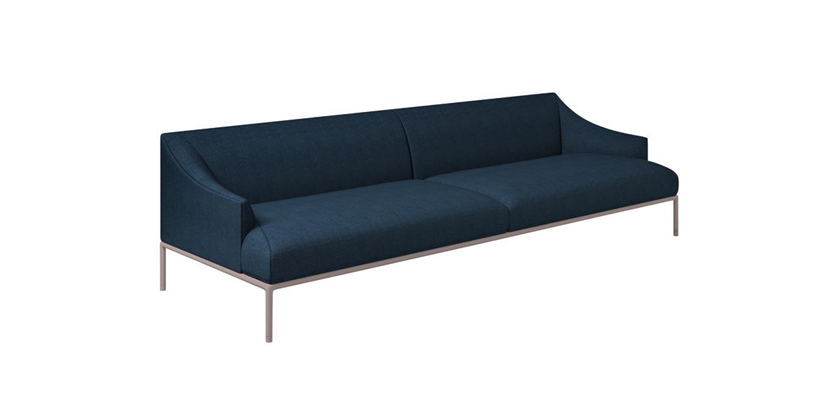 High Time Three Seater Sofa - Extreme visual lightness, extreme versatility: the High Time sofa, designed by Christophe Pillet, can be used to create studied, yet essential compositions that reflect the individual taste of those who choose to host it in their personal surroundings.