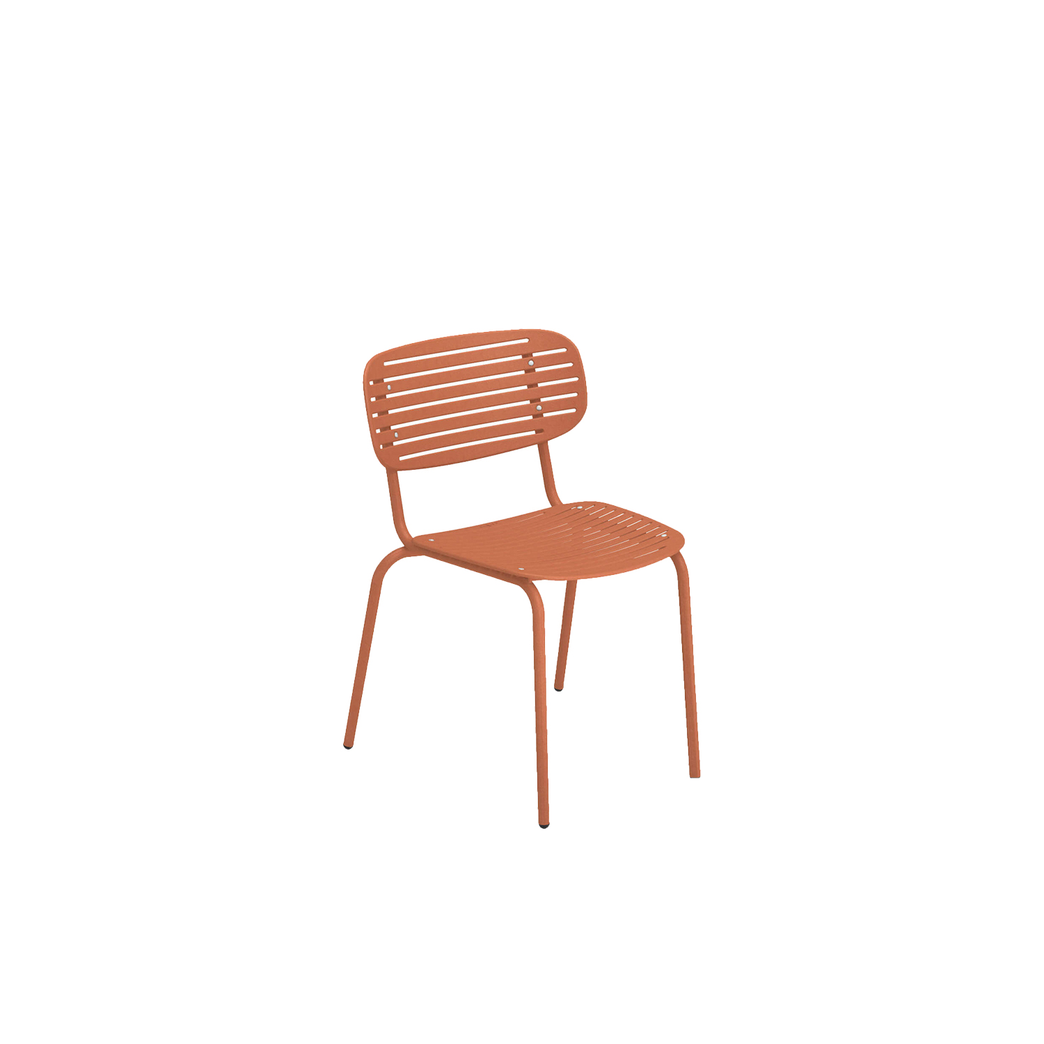 Mom Chair - Set of 4 - Mom is a brightly coloured collection of steel chairs in two versions, a chair and an armchair. The graphic effect of the elegant, sculptural, metal backrest lightens the soft, snug shapes. The solid colour palette gives this collection a young, fresh and ironic touch.