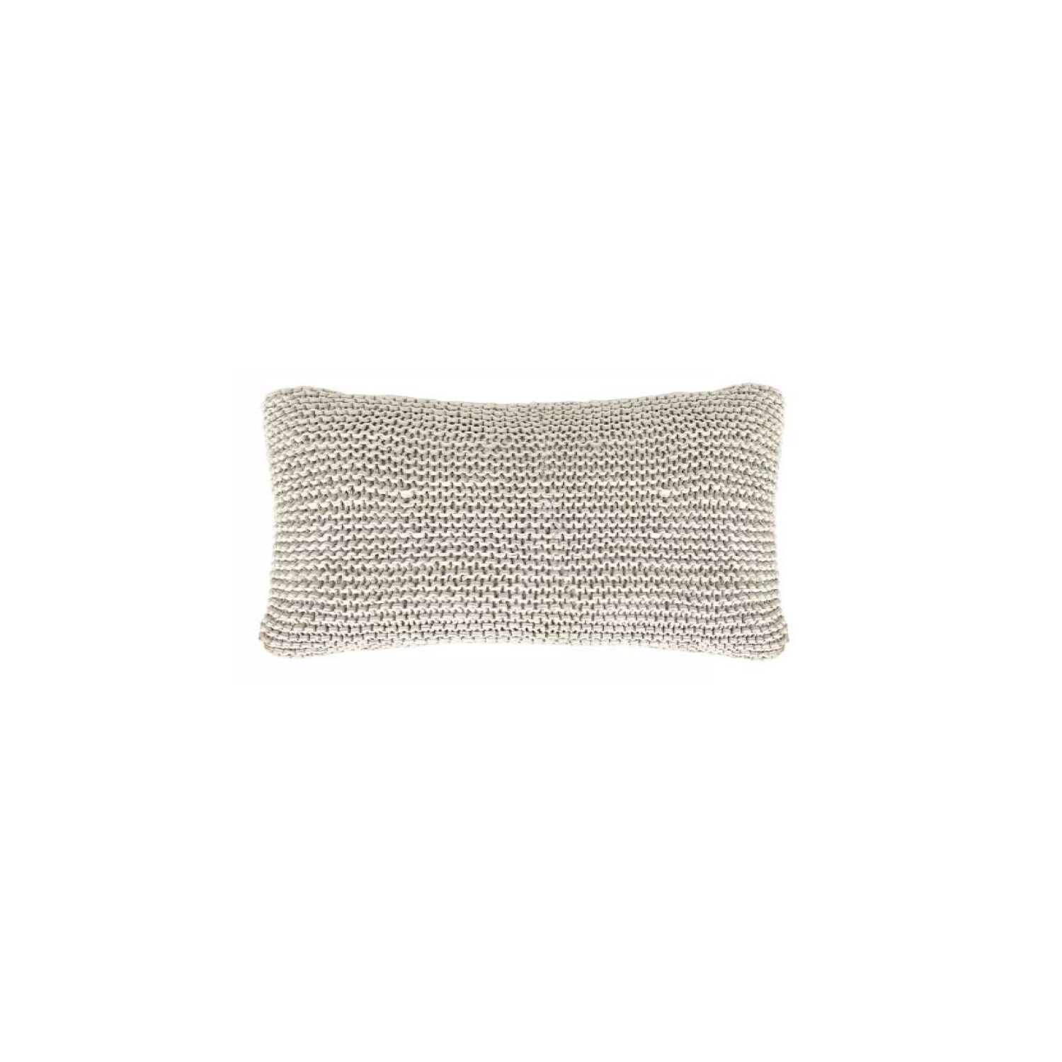 Amsterdam Knitted Cotton Cushion Small - The Amsterdam Line is carefully knitted within a trained community of women that found in their craft a way to provide for their families, each one of these cushions and throws is unique.  Elisa Atheniense Home soft indoors collection is made with natural cotton fibres, eco-friendly, handwoven or elaborated using traditional hand-loom techniques. The use of organic materials brings softness and comfort to the space. This collection combines their mission for responsible sourcing and manufacturing.  The hand woven cotton, washable cushion cover is made in Brazil and the inner cushion is made in the UK. All cushions come with Hollow Fibre filling. European Duck Feathers are optional upon request at an extra cost. Please enquire for more information and see colour chart for reference.   | Matter of Stuff