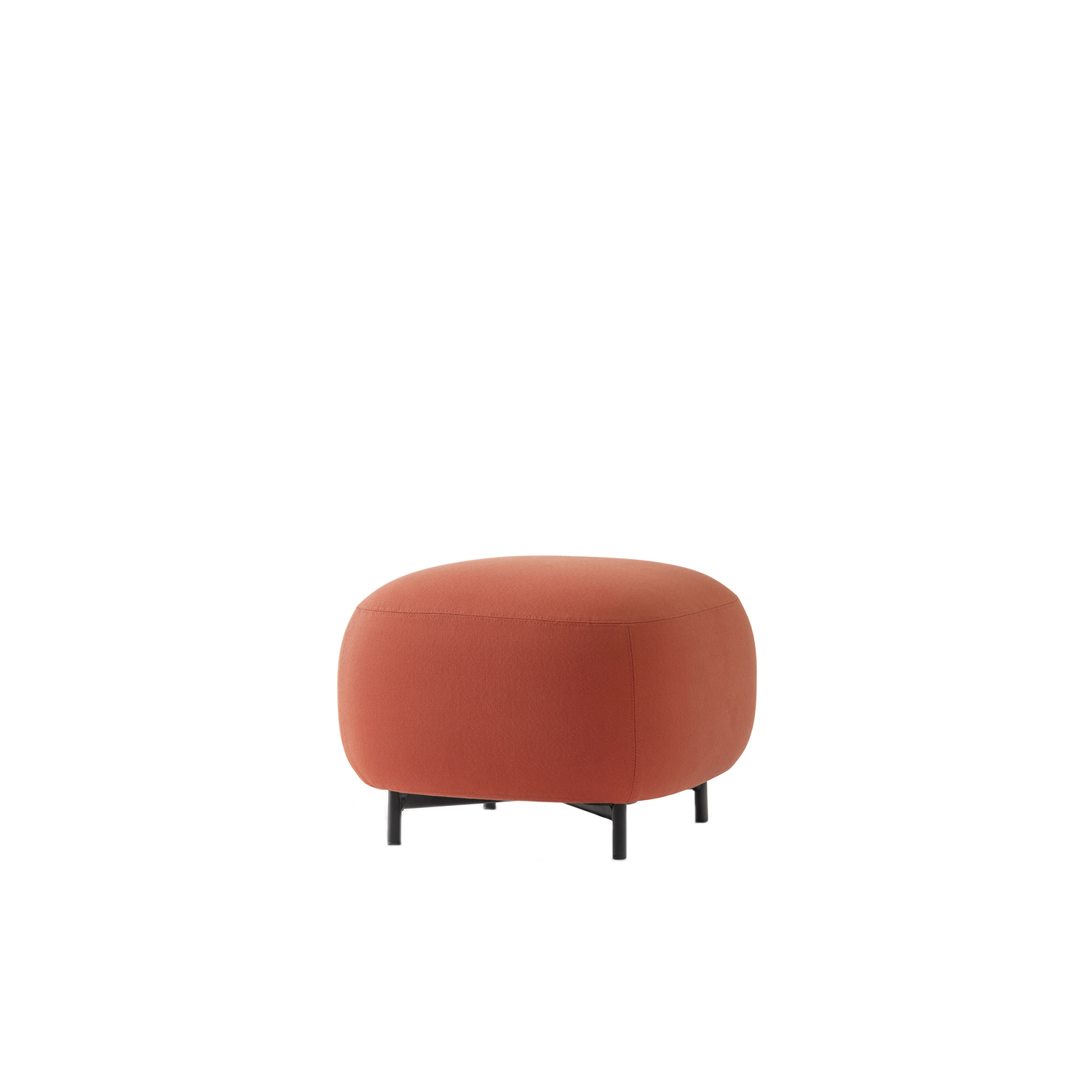 Buddy Pouf - Soft lines and clean design feature Buddy collection. The rounded shape of the pouf with a generous and comfortable upholstery is supported by four thin and rigorous legs Ø20mm. These make the pouf extremely functional and visually lift the volume from the ground. Height 400 - 450 mm.