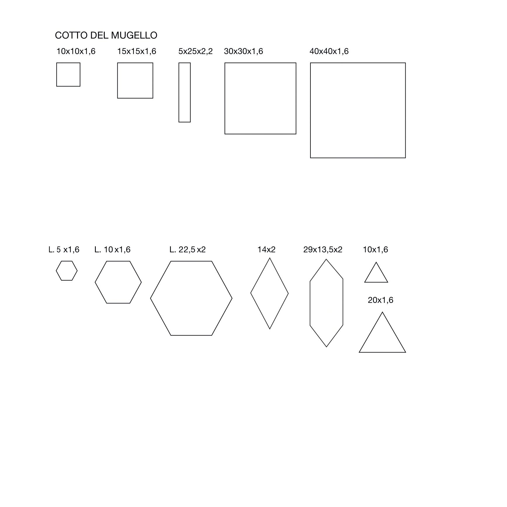 Square tiles Bianco Mix