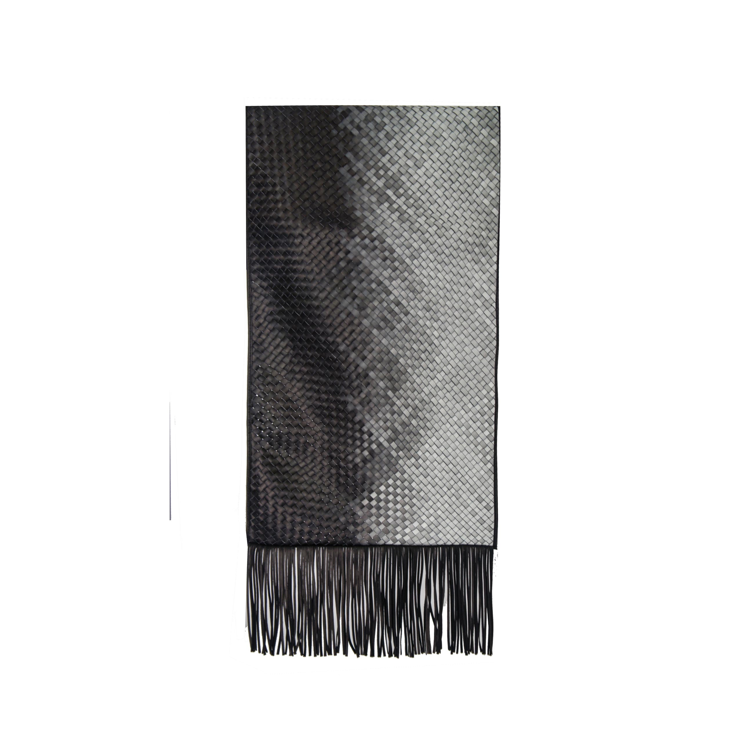 Mosaico Degrade Woven Leather Throw - <p>The Mosaico Degrade Woven Leather Throw is designed to complement an ambient with a natural and sophisticated feeling. Our woven leather pieces, are handmade and manufactured in Brazil using an exclusive treated leather that brings the soft feel touch to every single piece.</p> <p>Elisa Atheniense Home Throws are available in two sizes. Bespoke sizes are also available under project request as well as colours.</p>  | Matter of Stuff