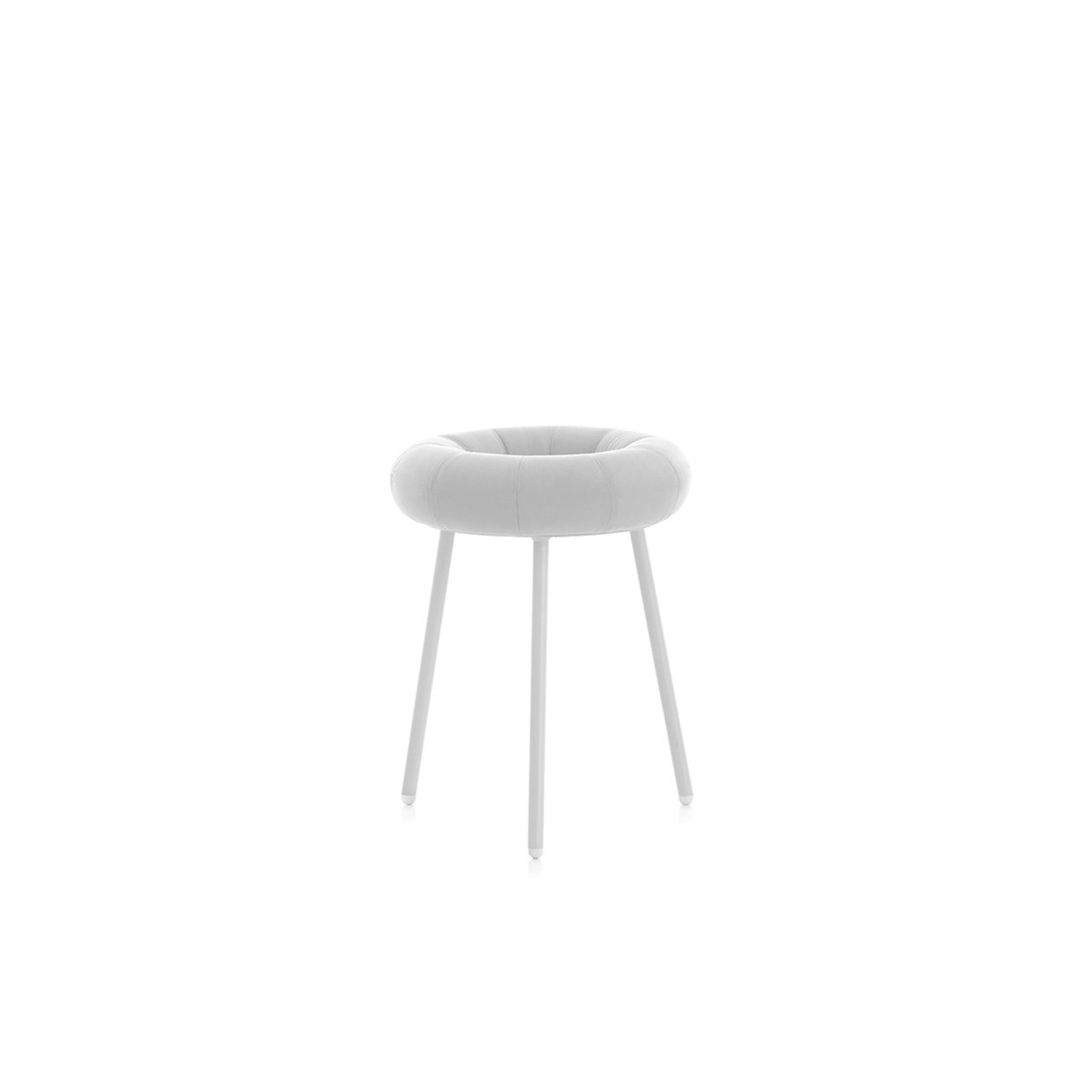 """Donut Stool - Donut is an outdoor stool with such a user-friendly design that you can't help smiling as soon as you see it. With its undeniable, obvious inspiration, there's very little we can add to describe its appearance. Its designer, Japanese-born Mikiya Kobayashi, was inspired by the shape of two doughnuts to create the seat of this amusing stool. A fun idea that's sure to be a great piece to add to any setting, it's certainly got flair and the """"wow"""" factor.  The seat is made using a soft foam filling and the wrinkles produced by the fabric emphasise its similarity to a doughnut even more. The fabric is especially suitable for outdoor use, so it's extremely weather resistant, plus the cover can be removed for washing. The soft seat means it's much more comfortable for sitting on for long periods than other stools made from more rigid materials.   Matter of Stuff"""