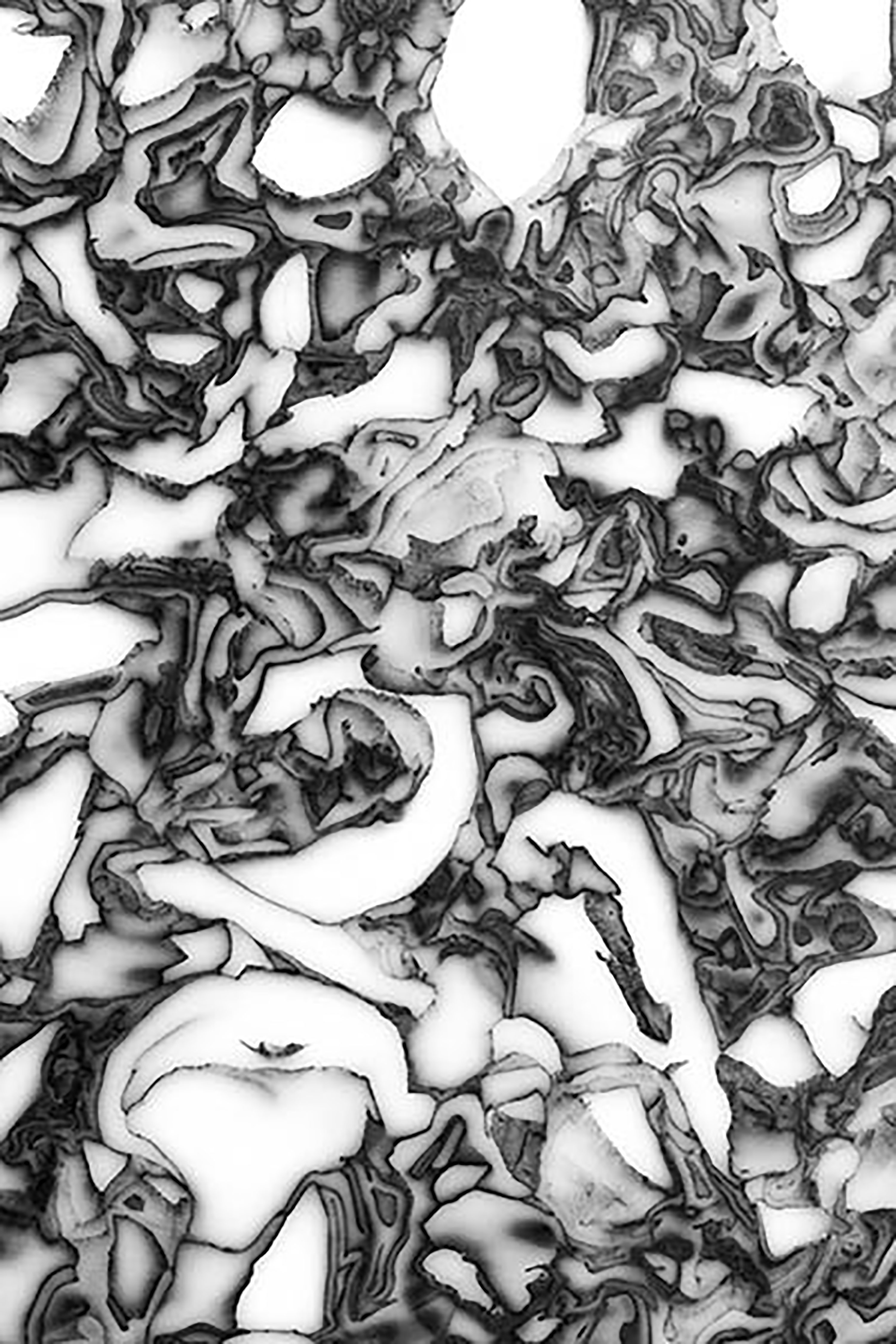 """Black Dapple Recycled Plastic - Black Dapple reminds many people of the cross-section of a cabbage, and many others of marble, yet we can't decide who is right. Playful yet sophisticated, Dapple's high contrast patterns give it a lively personality that evoke the material's millions of years of biological, geological and man-made processes. Dapple has been a long time coming, but we think it has been worth the wait.<p class=""""p2""""><span class=""""s1"""">Dapple is a High Density Polyethylene made from as many as 100-150 chopping boards or 16-58kg of plastic packaging. Dapple is hard, dense and rigid as well as being 100% waterproof, rot-proof and strong weather resistance. Furthermore, this is a food-grade material and can be used for the preparation of wet foods in the kitchen. With modern scratch resistance that can in turn be refinished, Dapple plastic has plenty of life in it. In addition, Dapple can be heat formed into all types of bespoke shapes with a choice of matt or gloss finishes, as well as the versatility of being machined, drilled, cut (router, CNC), water cut and fixed using adhesives and screws, making it perfect for any type of project.</span></p> 