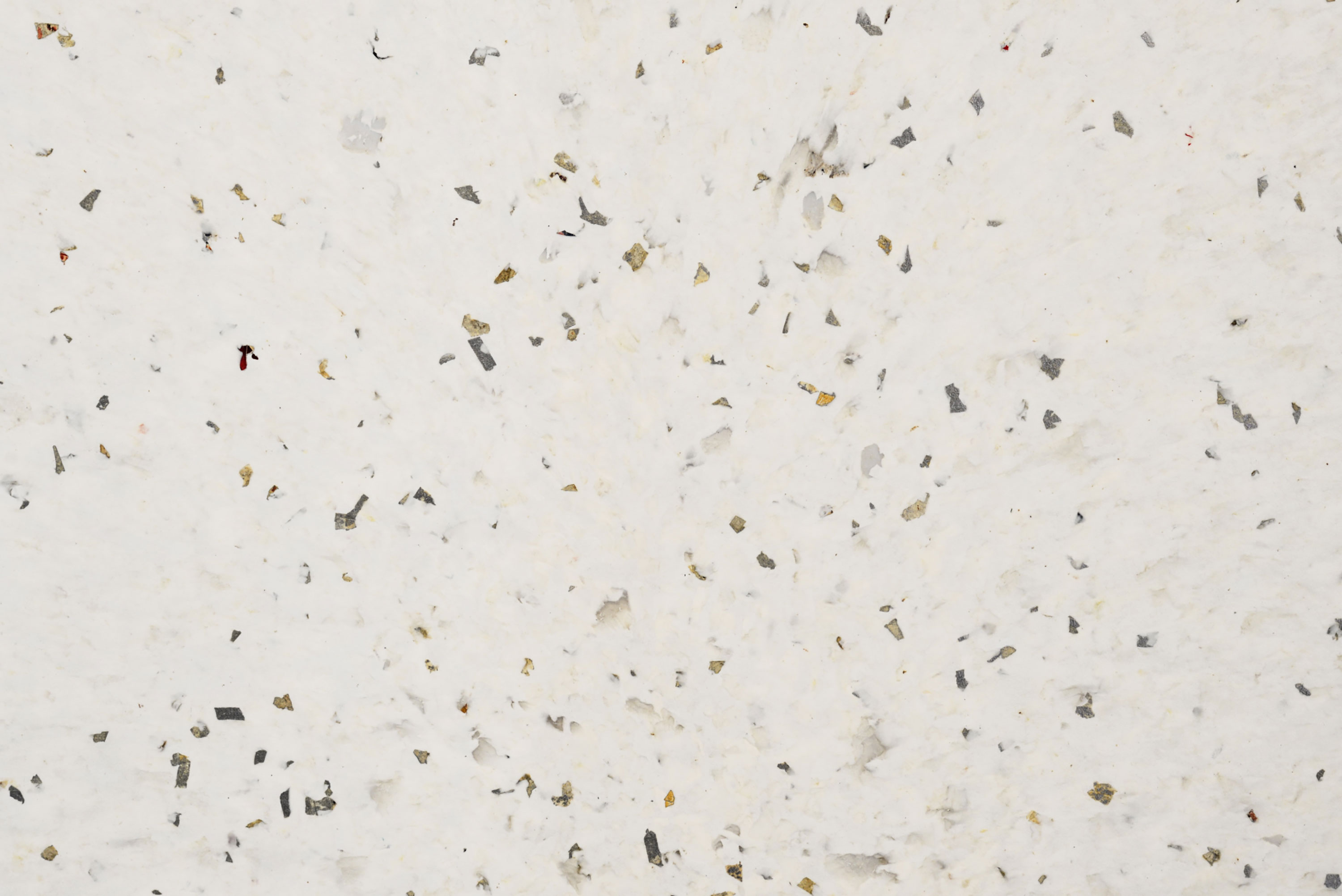 "Alba - Alba's beauty and versatility make it a firm favourite. With its white, marble-like surface and hints of gold and silver, this is an elegant-looking material that suits a wide variety of applications. However Alba is not just a plastic that is easy on the eye: closer inspection of Alba's surface reveals fragments of yoghurt labels or a glint of silver foil that draw us in and reveals the plastic's unique recycling story, with each panel being the equivalent of 1000-5000 yogurt pots.<p class=""p1""><span class=""s1"">Alba's hard, dense and rigid as well as being 100% waterproof. With modern scratch resistance that can in turn be refinished, Alba has plenty of life in it. In addition Alba can be heat formed into all types of bespoke shapes with a choice of matt or gloss finishes, as well as the versatility of being machined, drilled, cut (router, CNC), water cut and fixed using adhesives and screws, making it perfect for any type of project.</span></p> 