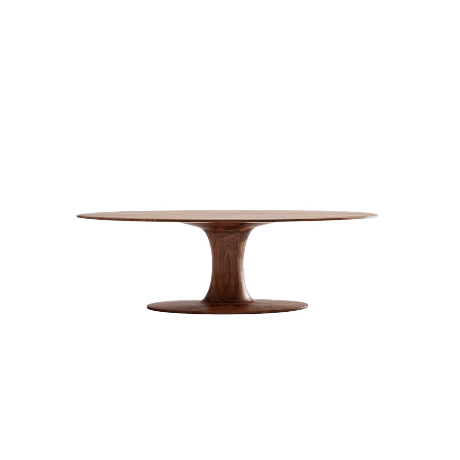 Turntable Oval Table
