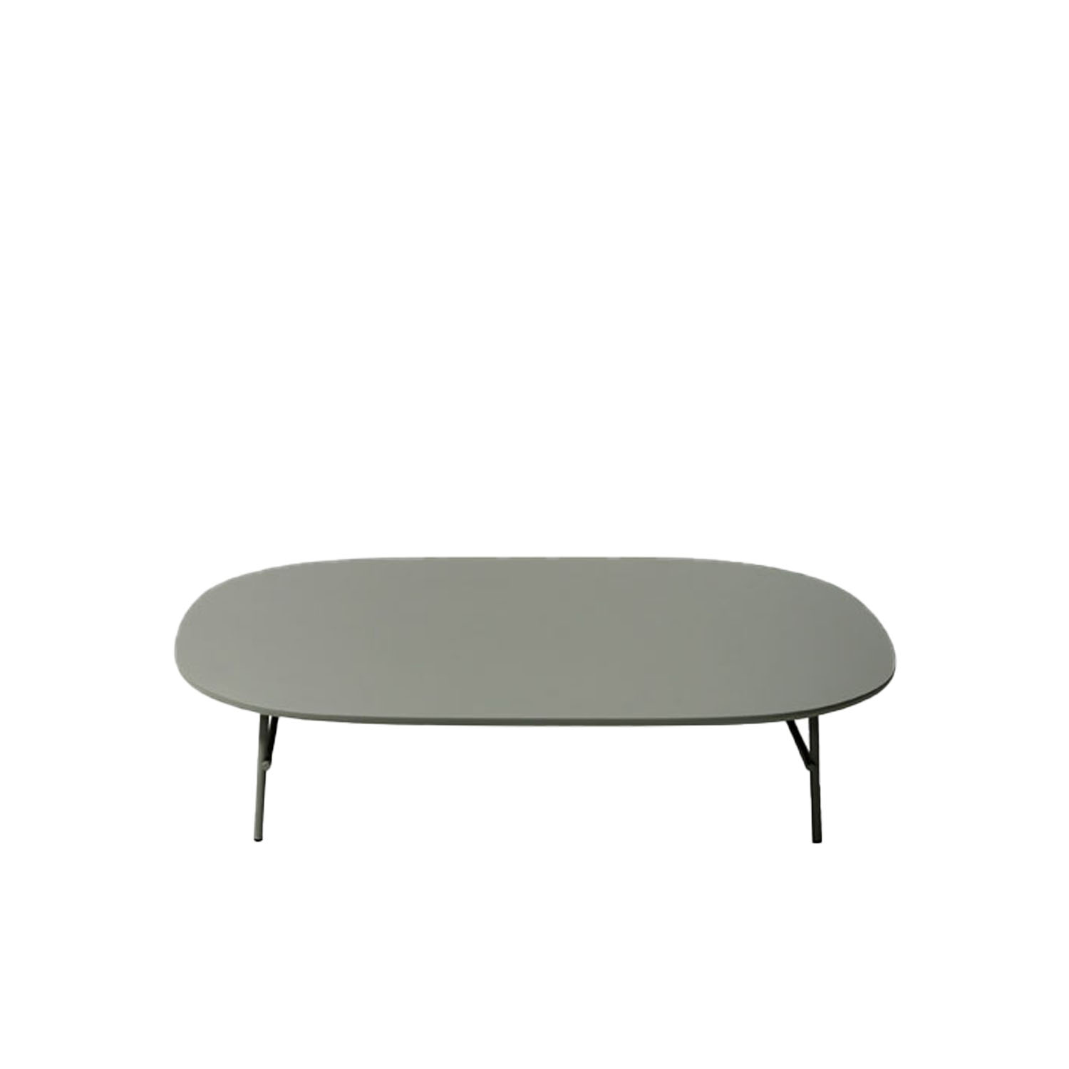 Kelly B Coffee Table  - Created in order to complete Kelly seating collection, but usable in every situation, from home to contract, these small tables with different heights stand out for the top's organic shape and for the thin metallic structure that make them dynamic and light.