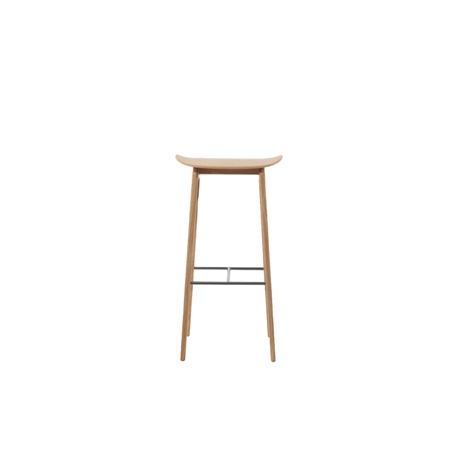 NY11 Bar Stool - The NY11 Bar Chair has a frame hand-crafted from solid white oak and a seat of laminated oak veneer. The leather edition can be upholstered with premium leather or vintage leather from Sørensen Leather.The NY11 series is inspired by traditional Danish school chairs designed throughout the twentieth century. The NY11 Bar Chair comes in two heights, 65 cm and 75 cm, making it perfect for kitchen islands in private homes or as a stylish bar chair for public spaces. | Matter of Stuff