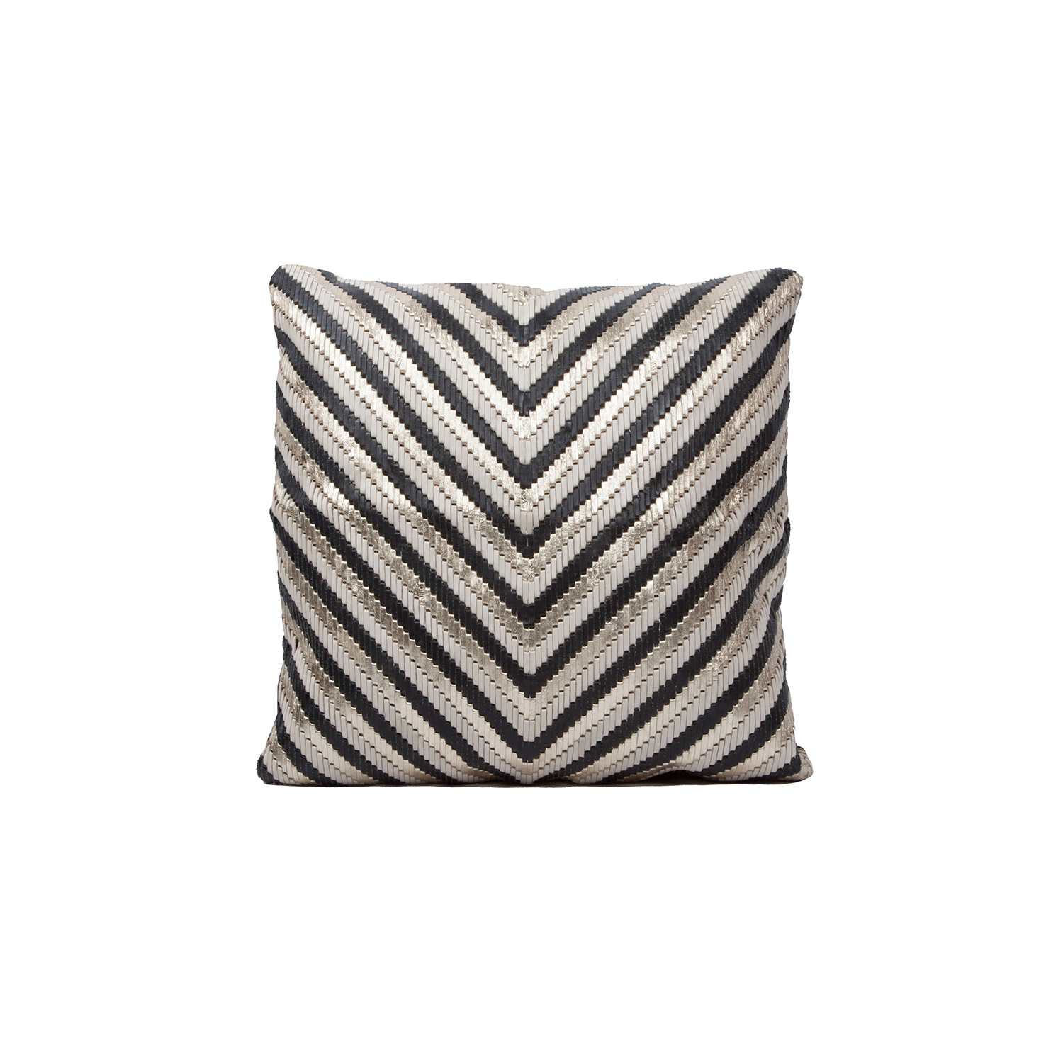 Asteca Woven Leather Cushion Square - The Asteca Woven Leather Cushion is designed to complement an ambient with a natural and sophisticated feeling. This cushion style is available in pleated leather or pleated suede leather. Elisa Atheniense woven handmade leather cushions are specially manufactured in Brazil using an exclusive treated leather that brings the soft feel touch to every single piece.   The front panel is handwoven in leather and the back panel is 100% Pes, made in Brazil.  The inner cushion is available in Hollow Fibre and European Duck Feathers, made in the UK.  Asteca Woven Leather Cushion is available in multiple colours of leather. Please enquire for colour combination, see colour chart for reference.   | Matter of Stuff