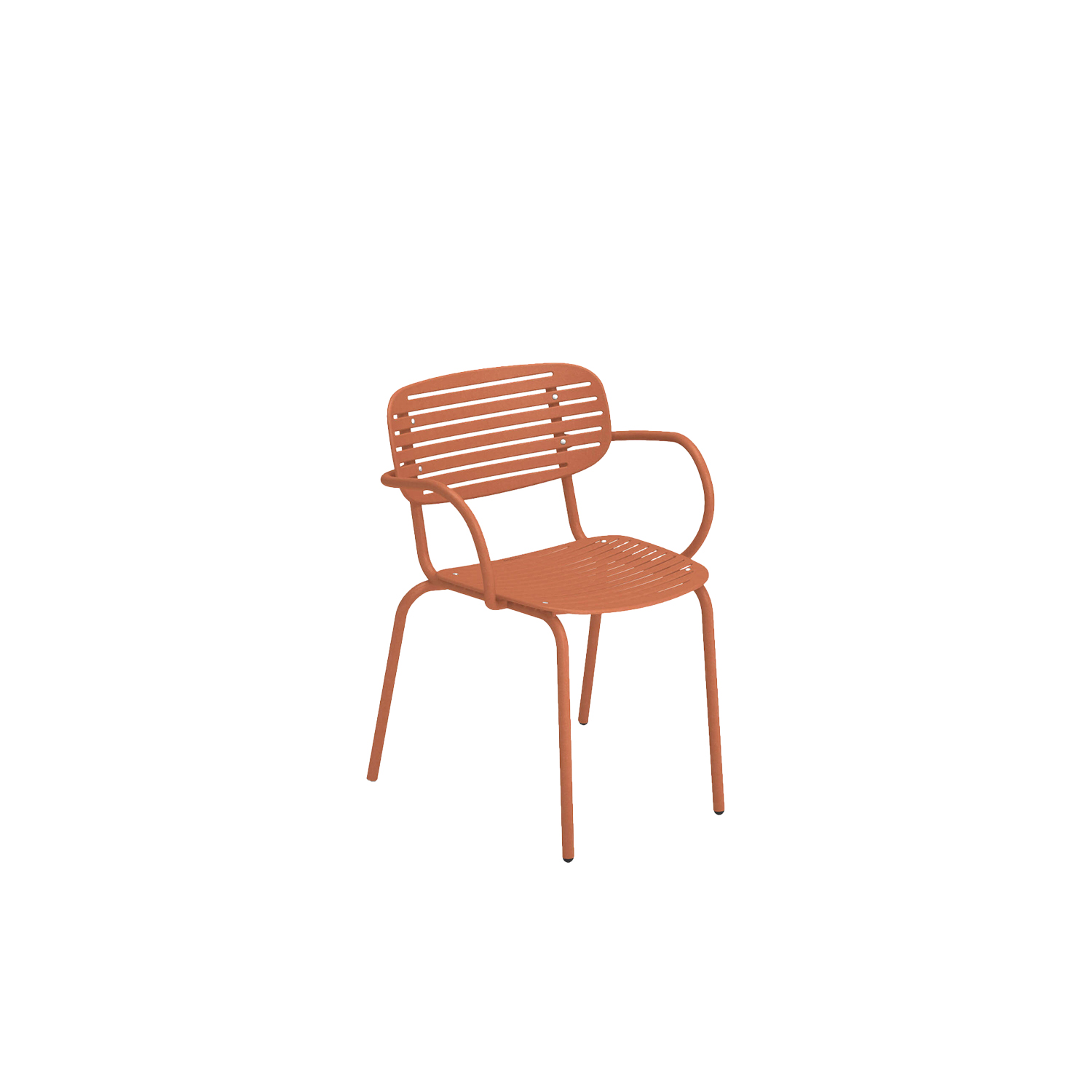 Mom Armchair - Set of 4 - Mom is a brightly coloured collection of steel chairs in two versions, a chair and an armchair. The graphic effect of the elegant, sculptural, metal backrest lightens the soft, snug shapes. The solid colour palette gives this collection a young, fresh and ironic touch.