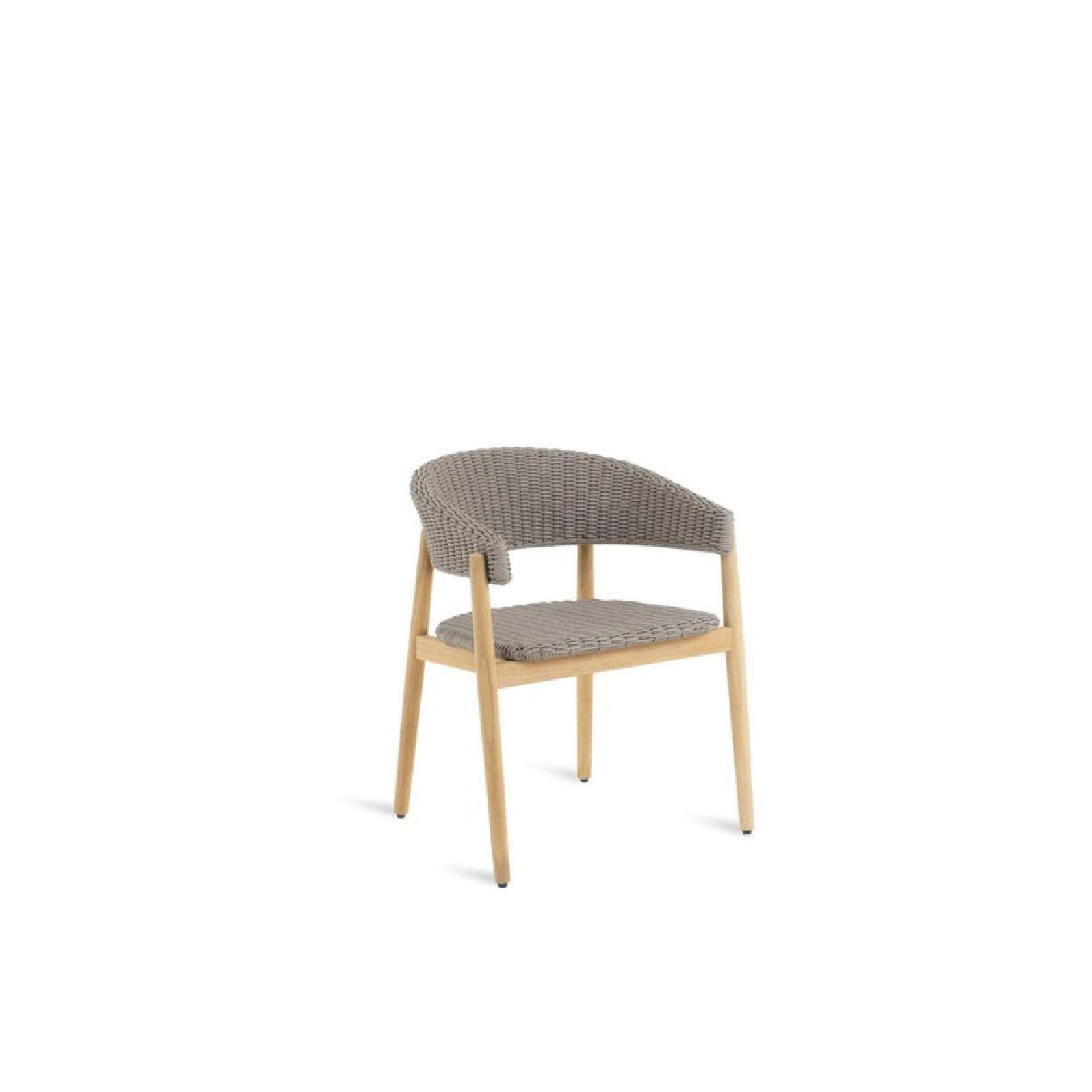 Pevero Small Armchair In Teak and Cord - The new really complete Pevero line exalts all the potential of teak, thanks to its clean essential design that highlights the round section of the wood.  Sofas, armchairs, tables both low and tall of various sizes, three different models of the chair and small armchair that are all well suited to other collections, as well as a sun lounger and a large round island, all characterized by teak worked in soft, rounded, graceful lines that are easy on the eye and guarantee maximum comfort, while tastefully furnishing any outdoor area.  Pevero small armchair in teak and cord (W 60 D 54 H 72 seat H 42).   Matter of Stuff