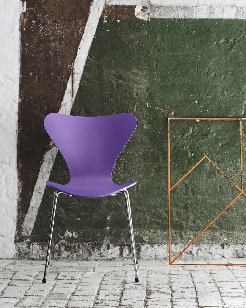 Series 7 Chair - <p>Designed by Arne Jacobsen in 1955, the Series 7 chair is a further development of the classic Ant chair.<br /> The four-legged Series 7 chair represents the culmination of the pressure-moulding technique that Søren Hansen, founder Fritz Hansen's grandson, spent the 1920s and 30s refining.<br /> The iconic shape of the Series 7 is the result of Arne Jacobsen's exploration of the possibilities of steam-bent veneer.</p> <p>The best selling chair in Fritz Hansen's history comes in 3 different finishes: Natural veneer, coloured ash or lacquered.<br /> All chairs are made of pressure moulded sliced veneer with a base of chromed steel.<br /> The shell is also available in front- or fully upholstered versions in a wide range of fabrics and leather types.</p> <p>A range of materials and colours are available in a number of combinations. Prices may vary.<br /> Please enquire for full details.</p>    Matter of Stuff