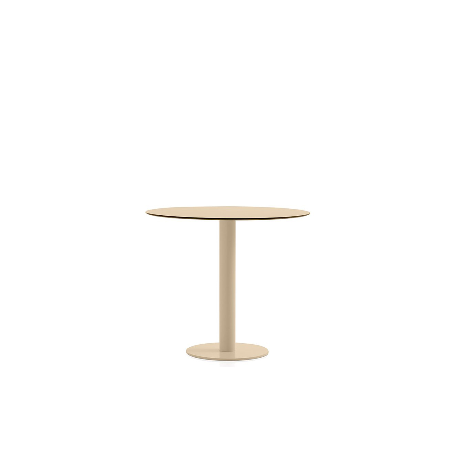 Mona Coffee Table - This is our low round table from the Mona series, a design with a single-leg structure to which you can give a lot of different uses. It can work as a coffee table or as an auxiliary table, depending on the tabletop diameter you select. There are three sizes available: 70, 80 and 90 cm. Aside from its design, which works well with many styles, a big part of its appeal is its multiple colour options.