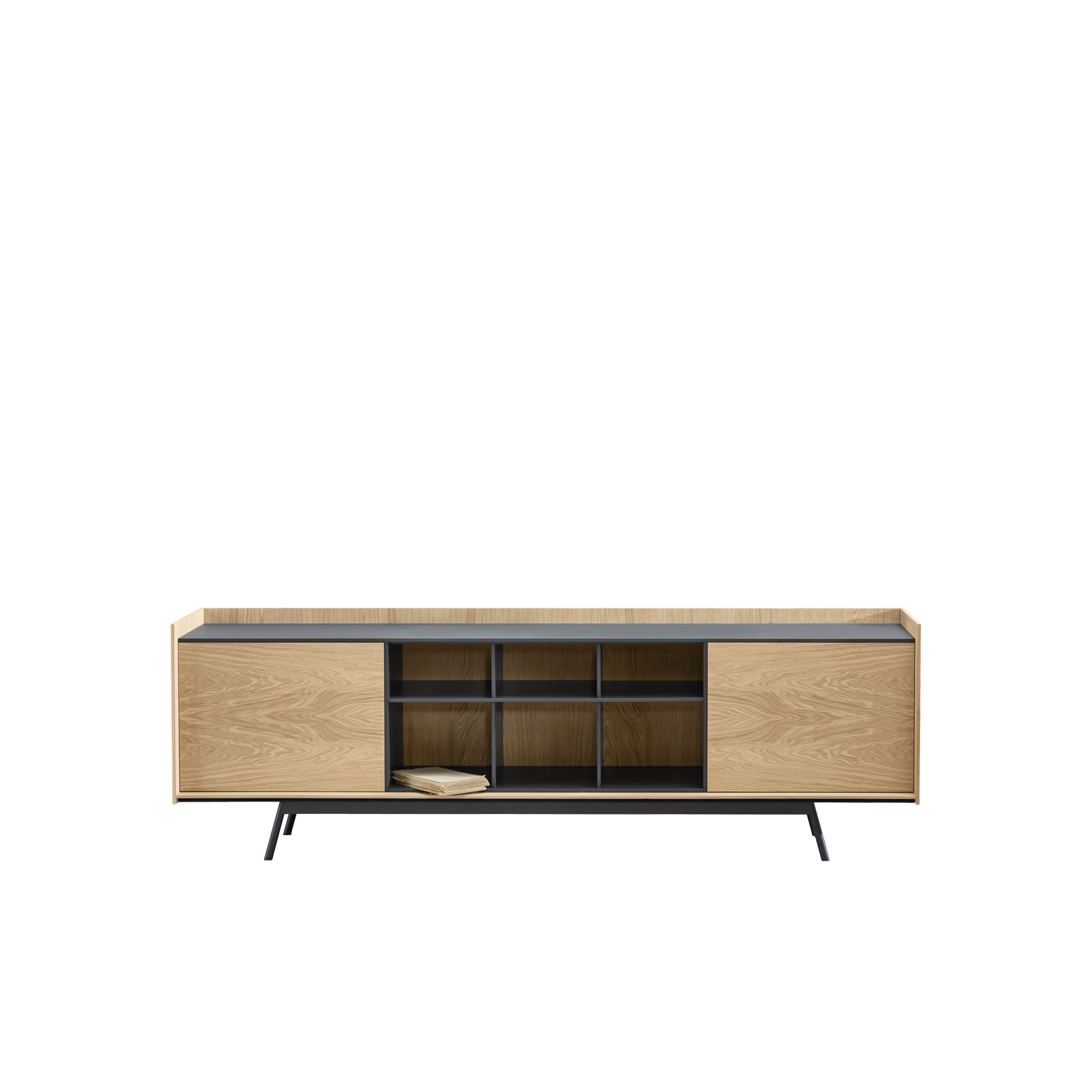 Edge Sideboard - Edge was created from a clear, essential approach to the concept of the sideboard. The neutral colours and the expressiveness of the wood give the item an autonomous, indispensable role in the living area.