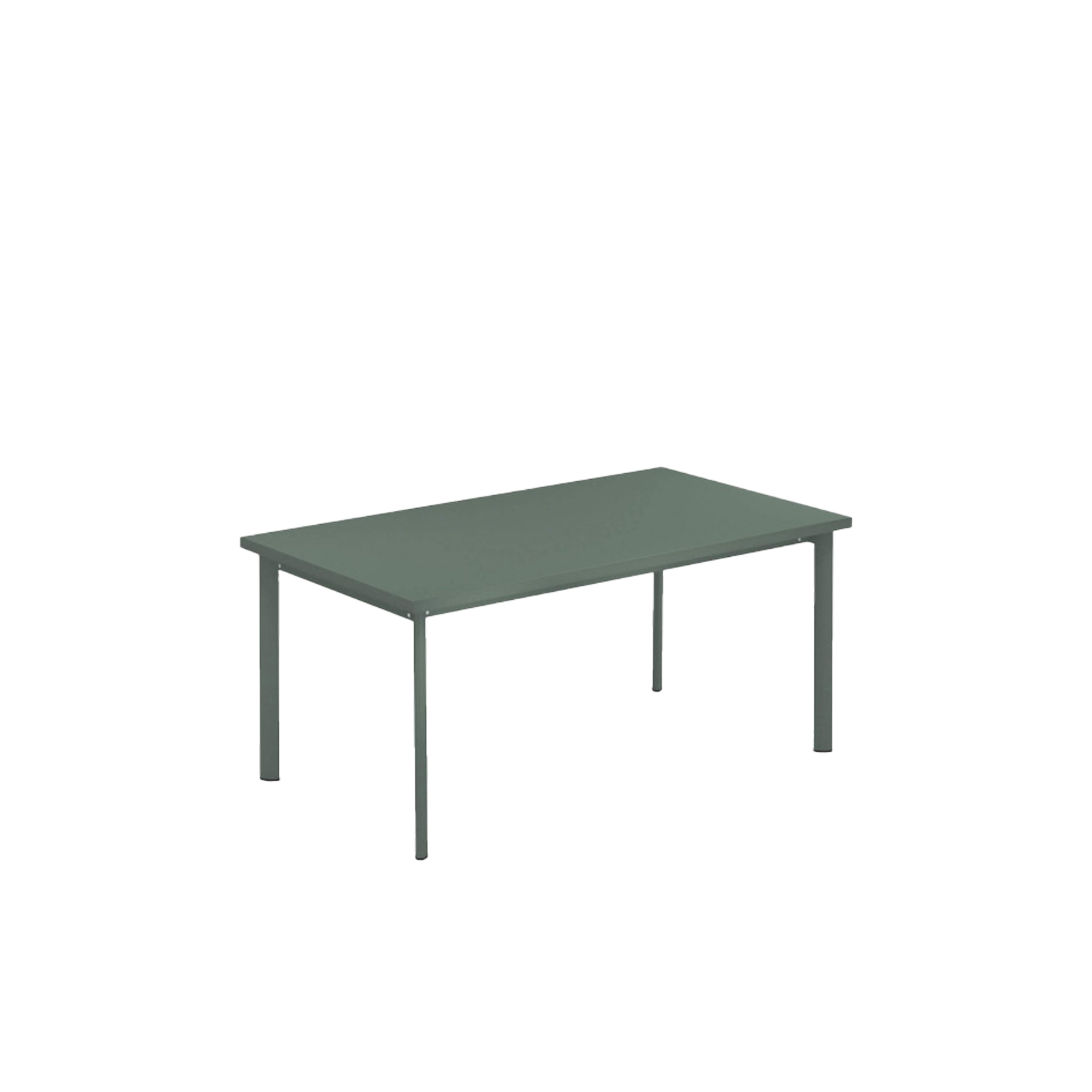 Star Rectangular Table - This is a rectangular table made from steel. This table comes in a wide array of colours so that you can choose the best colour to suit your space.   A series of chairs and tables, the Star collection is an evergreen among EMU products. Simple shapes, colour and versatility mark this collection which is defined by soft, classic lines, ideal in multiple contexts and surroundings. The Star collection comprises chair, armchair, stool, lounge chair, sofa and tables of various sizes.  | Matter of Stuff