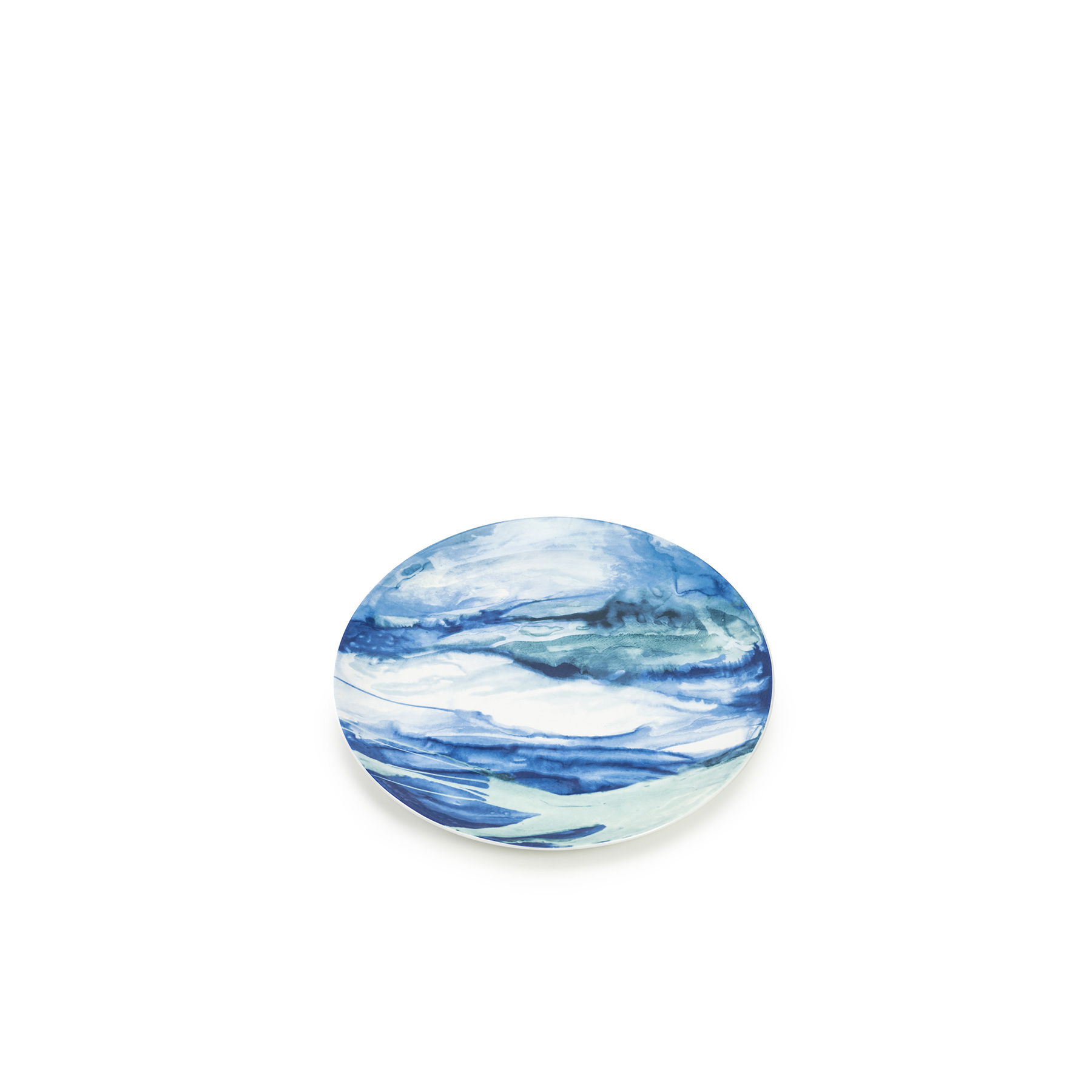 Jenny Platter - Californian based artist Deborah's love of the water has heavily influenced her work, which often includes references of carved landscapes and the unexpected organic shapes and colours we prize in nature; the results being contemplations of space, fluidity and light. This collection of china represents Allen's watercolour techniques and is inspired by Emily's mother, Jenny Johnson. 5% of all proceeds from the sale of the collection will be donated to Maggie's Centers. Dishwasher and Microwave safe.  | Matter of Stuff
