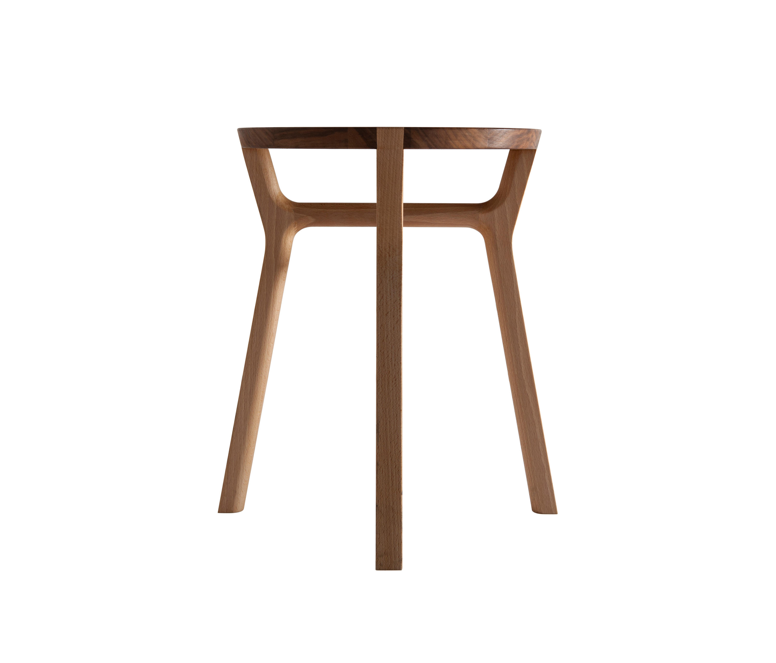 Affi Stool - <p>A stool in solid wood, made by means of simple interlocks. The detail of the legs inserted in the seat is highlighted by the contrasting hues of beech and walnut. The overlapping crossbars convey a sense of skilled craftsmanship while providing exceptional stability.</p>  | Matter of Stuff