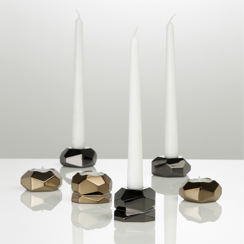 Genius Candleholder Set - Comes as a set of 3 candleholders entirely worked by hand with traditional craft techniques. 100% made in Italy.