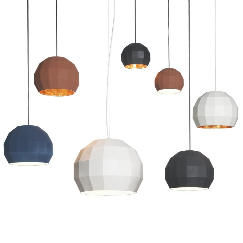 Scotch Club 17 Pendant Light - <p>Pottery Scotch Club collection is a tribute to the disco mirror ball, consisting of 72 facets that reflect light from the inside in various directions, producing a complex visual effect. Scotch Club is the result of the last collaboration between Xavier Mañosa and Mashallah. Pendant light available in 3 sizes: 17.4cm diameter, 26.5cm diameter and 41.2cm diameter. Available in the following finishes: white-white, white-gold, blue-white, blue-gold, terracotta-white, terracotta-gold, black-white and black-gold.</p>The cable length is 200cm.  | Matter of Stuff