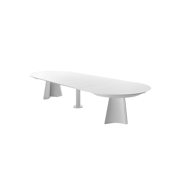 Concert Round Extensibile Table - <p>Unexpected plays of curves, cuts and snaps make Concerto an unique table, a living sculpture for every day. The sophisticated technology hidden inside easily extends the top until 4,10 meters long.</p>  | Matter of Stuff