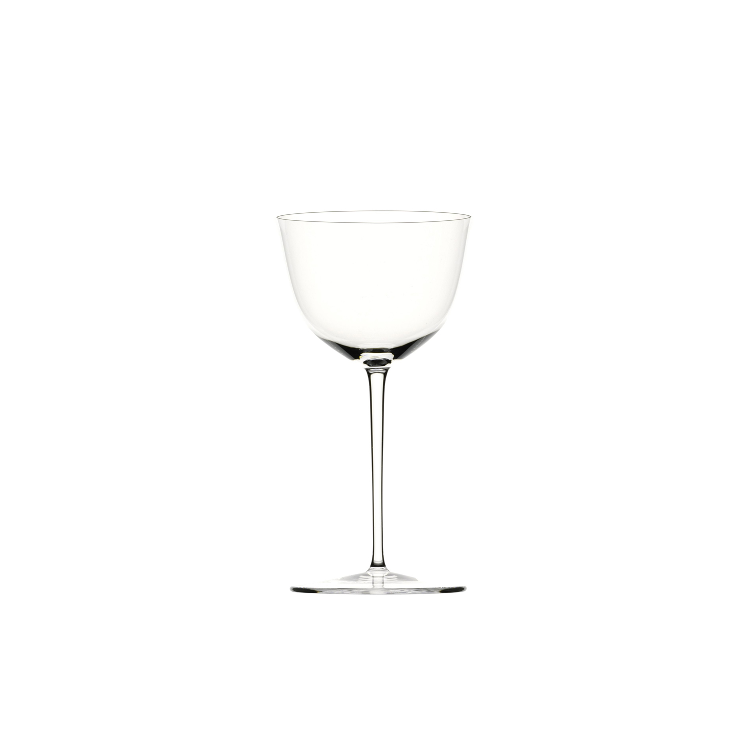 Drinking Set No.238 Wine Glass II - Set of 6 - The perfectly flowing contours of these original Hoffmann shapes make this muslin glass service a classic. Josef Hoffmann designed the elegantly balanced glasses for Lobmeyr as early as 1917. The material, extremely delicate muslin glass, hand-blown in wooden shapes, gives the series its elegance. | Matter of Stuff