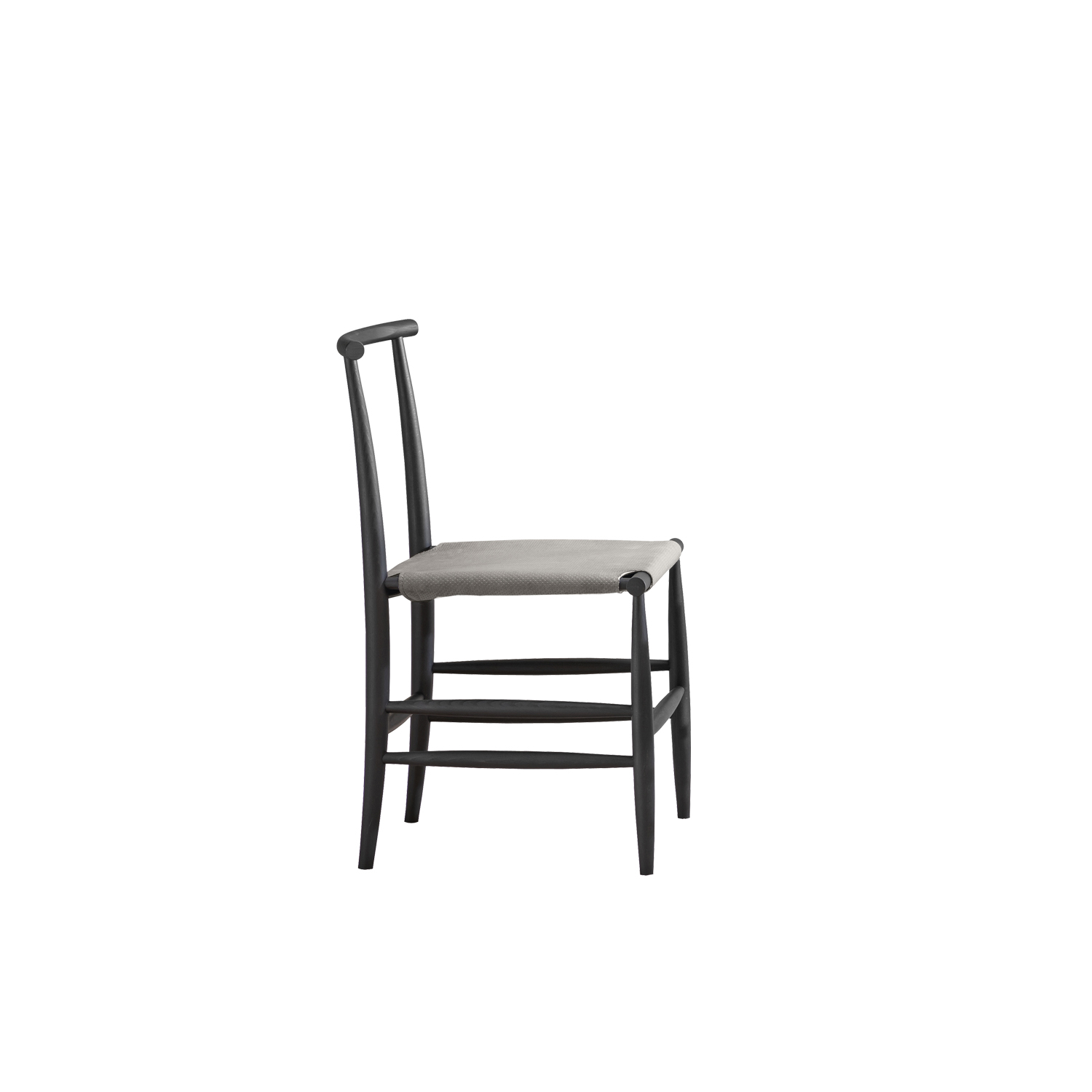 Pelleossa Chair - Pelleossa is a slender, eclectic chair that expresses its character through detail. It is inspired by the Italian chairs of pre-industrial times, sporting the attitude of conceptual art.   Also available with or without armrests, it completes with the different combinations of the seat.   | Matter of Stuff
