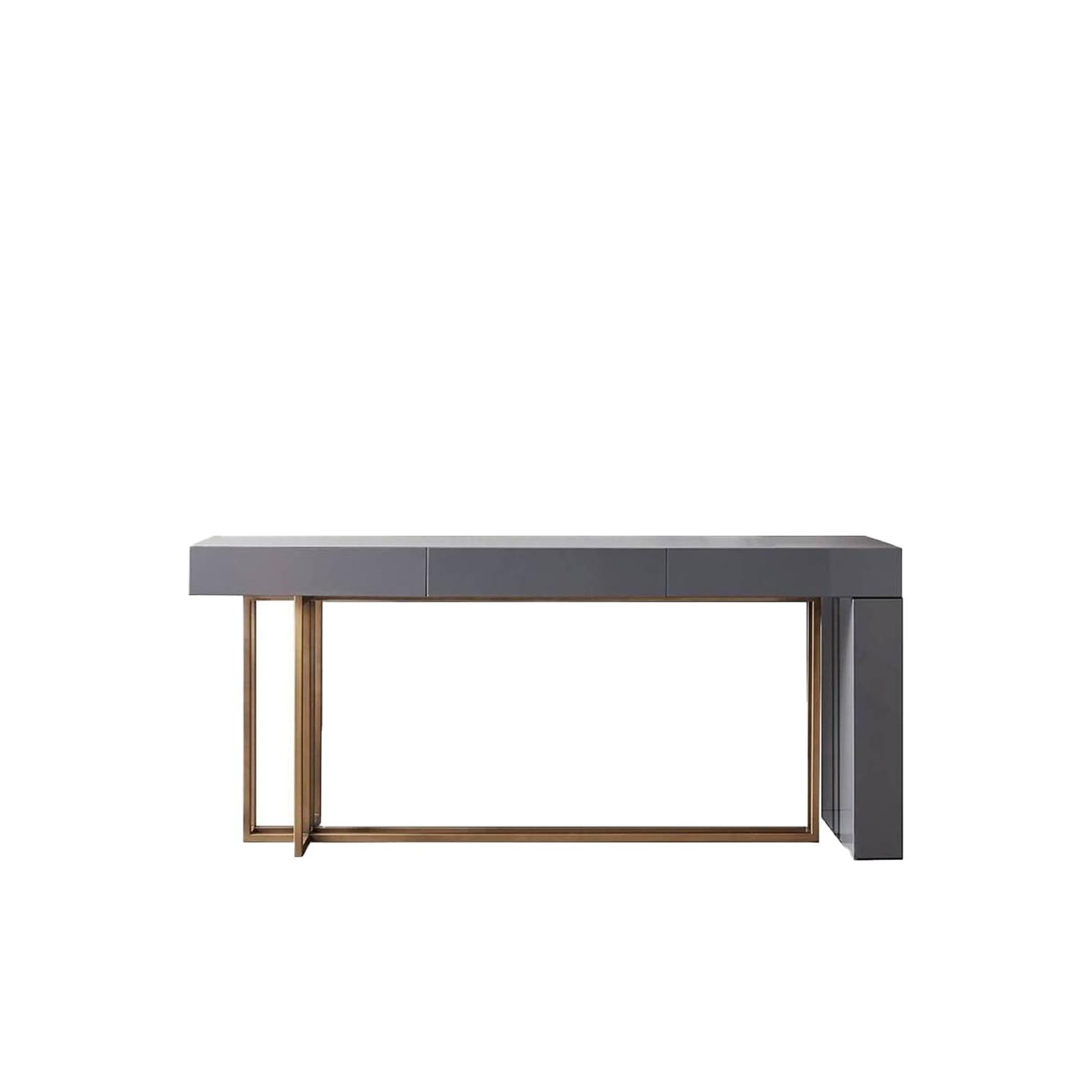 Quincy Editions Shine Console Table - Console in wood available in various finishes with three drawers.
