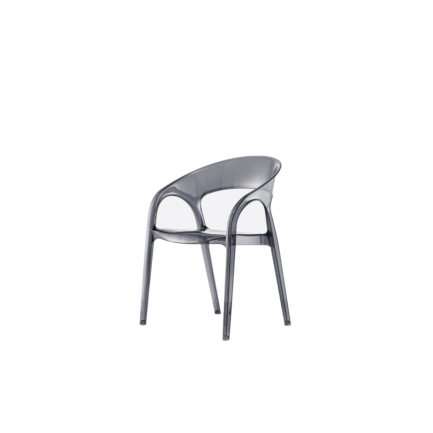 Gossip Armchair - Gossip is a polycarbonate armchair with sinuous and round shapes, light weight and stackable. | Matter of Stuff