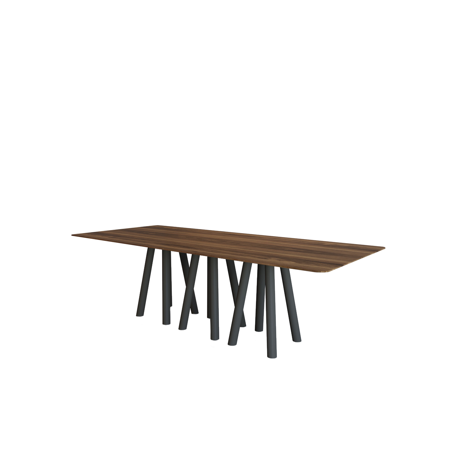 Mos-I-Ko 001 C Dining Table - <p>Table in two sizes with shaped rectangular top with thin<br />
