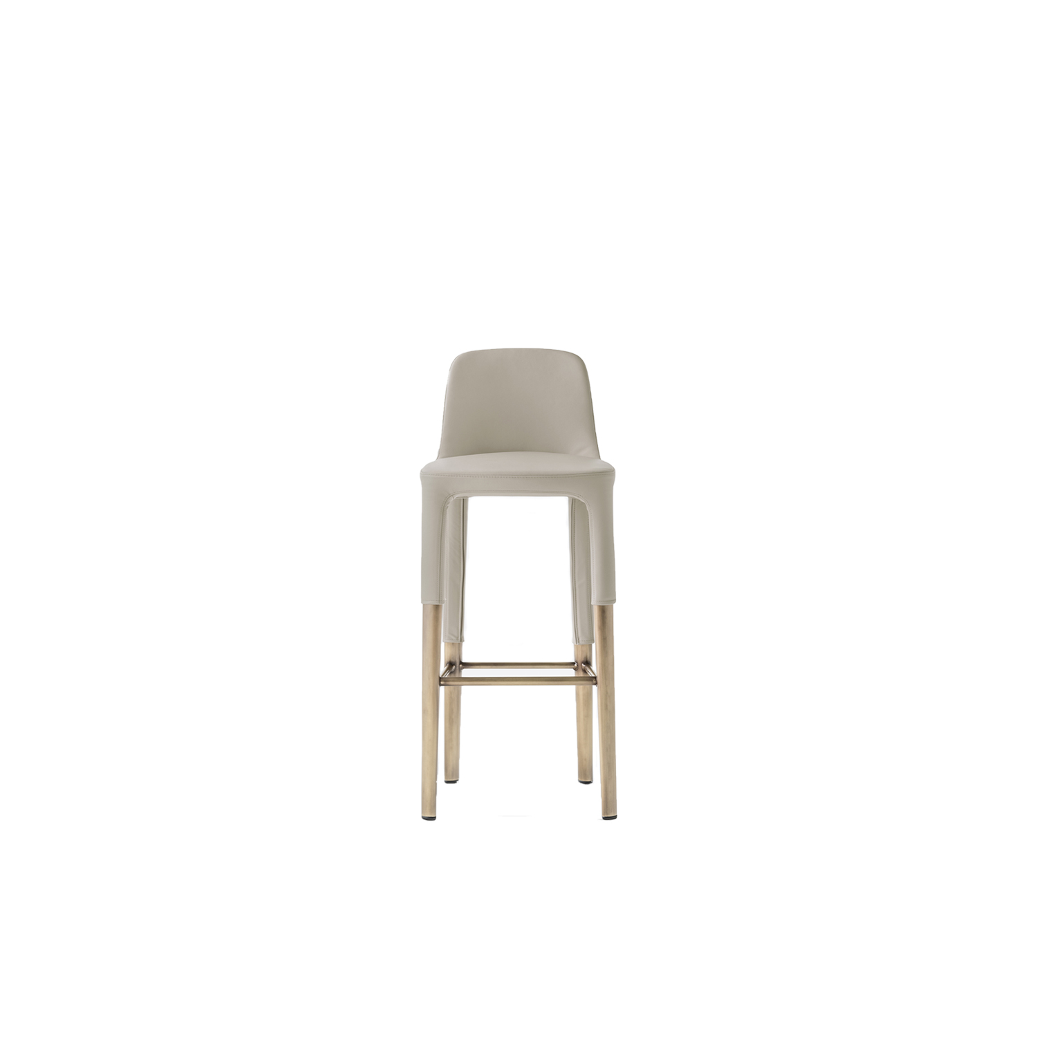 Ester Stool - Ester is a mix of elegance, ergonomics and functionality. The soft and graceful lines and the great comfort offered by the seat distinguish the interior of the most exclusive restaurants, offices and hotels in the international scenario. Barstool with upholstered shell in polyurethane foam with elastic belts and steel tube legs. | Matter of Stuff