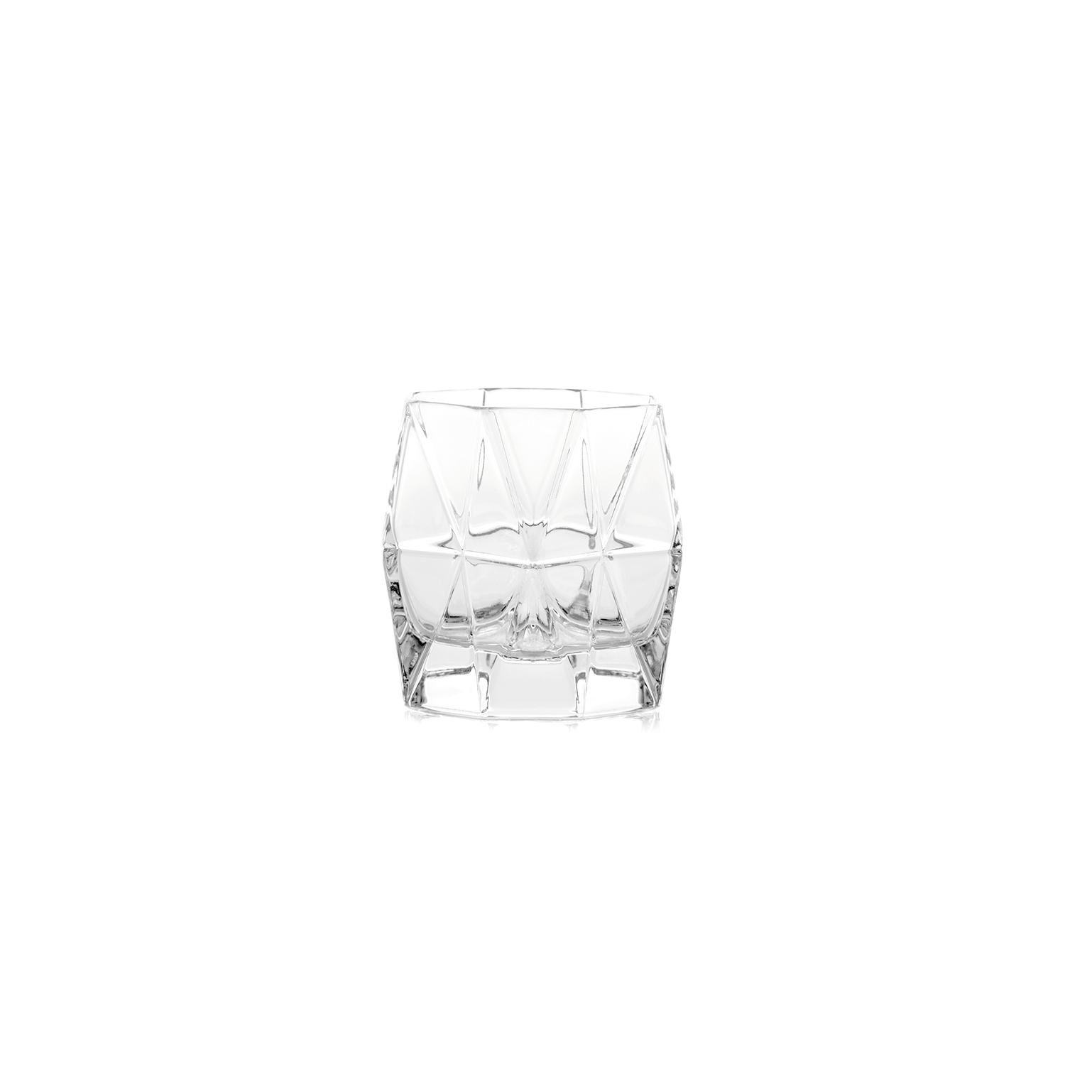 Diamond Glasses Set of 6 - The Diamond crystal glasses collection exudes sophistication and style. The crystalline and multifaceted surface gives the glass a distinctive yet still externally elegant character. Suitable for any kind of situation, Diamond is ideal for serving soft drinks or spirits.   | Matter of Stuff